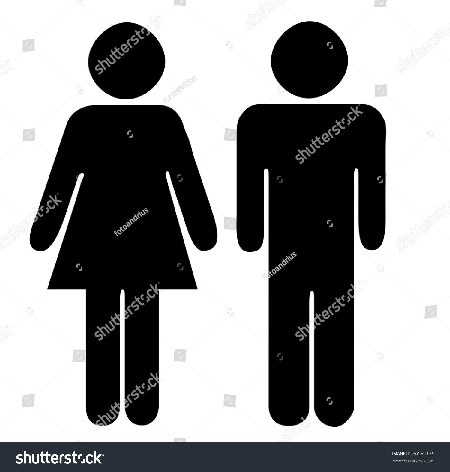 Restroom Signs For Men And Women Stock Photo 36581176 Shutterstock