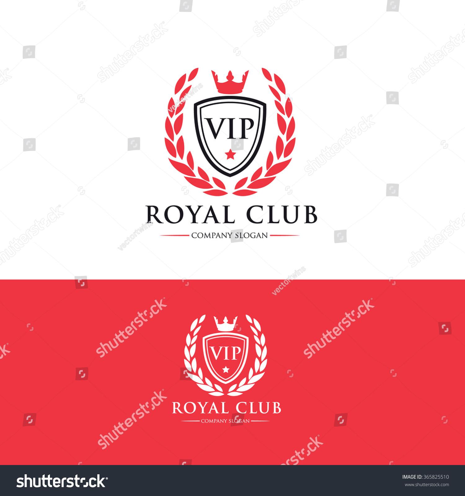 vip club logo royal logo crests logo vector logo template 365825510 shutterstock. Black Bedroom Furniture Sets. Home Design Ideas