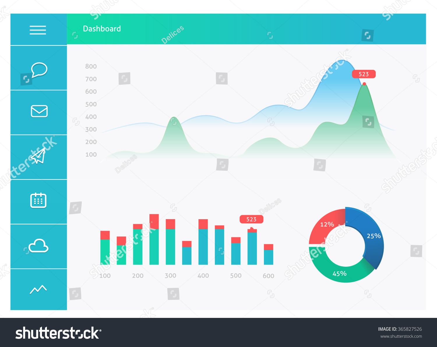 infographic dashboard template with flat design graphs and charts dashboard template design. Black Bedroom Furniture Sets. Home Design Ideas