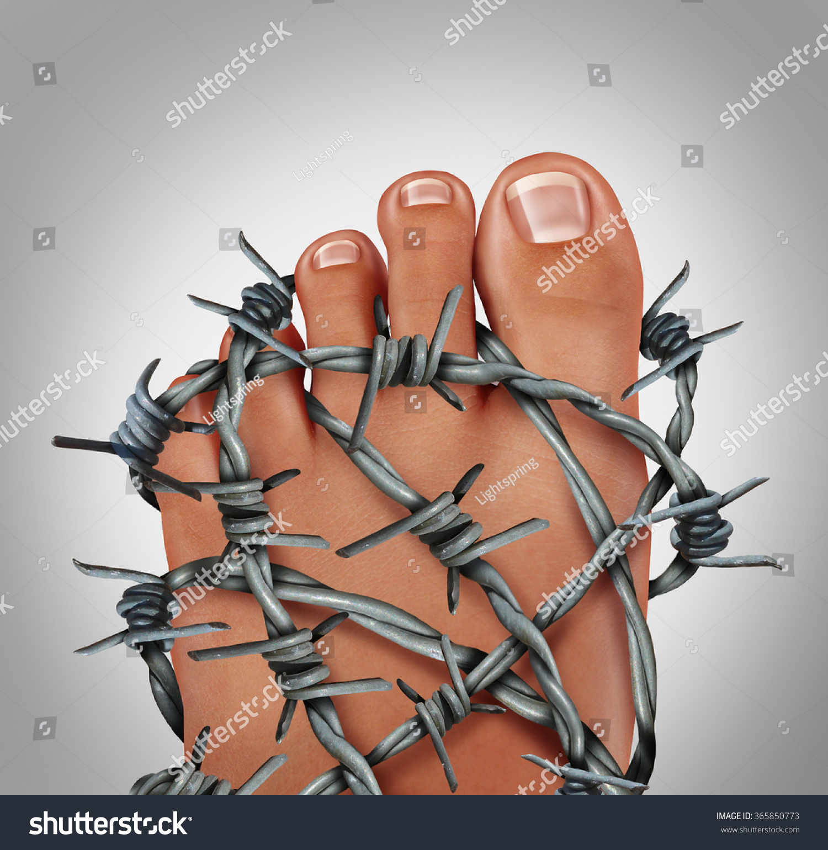 Foot Pain Podiatry Medical Concept Symbol Stock Illustration