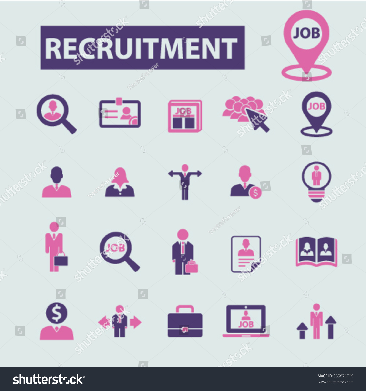 recruitment headhunter job icons signs vector concept set for recruitment headhunter job icons signs vector concept set for infographics mobile