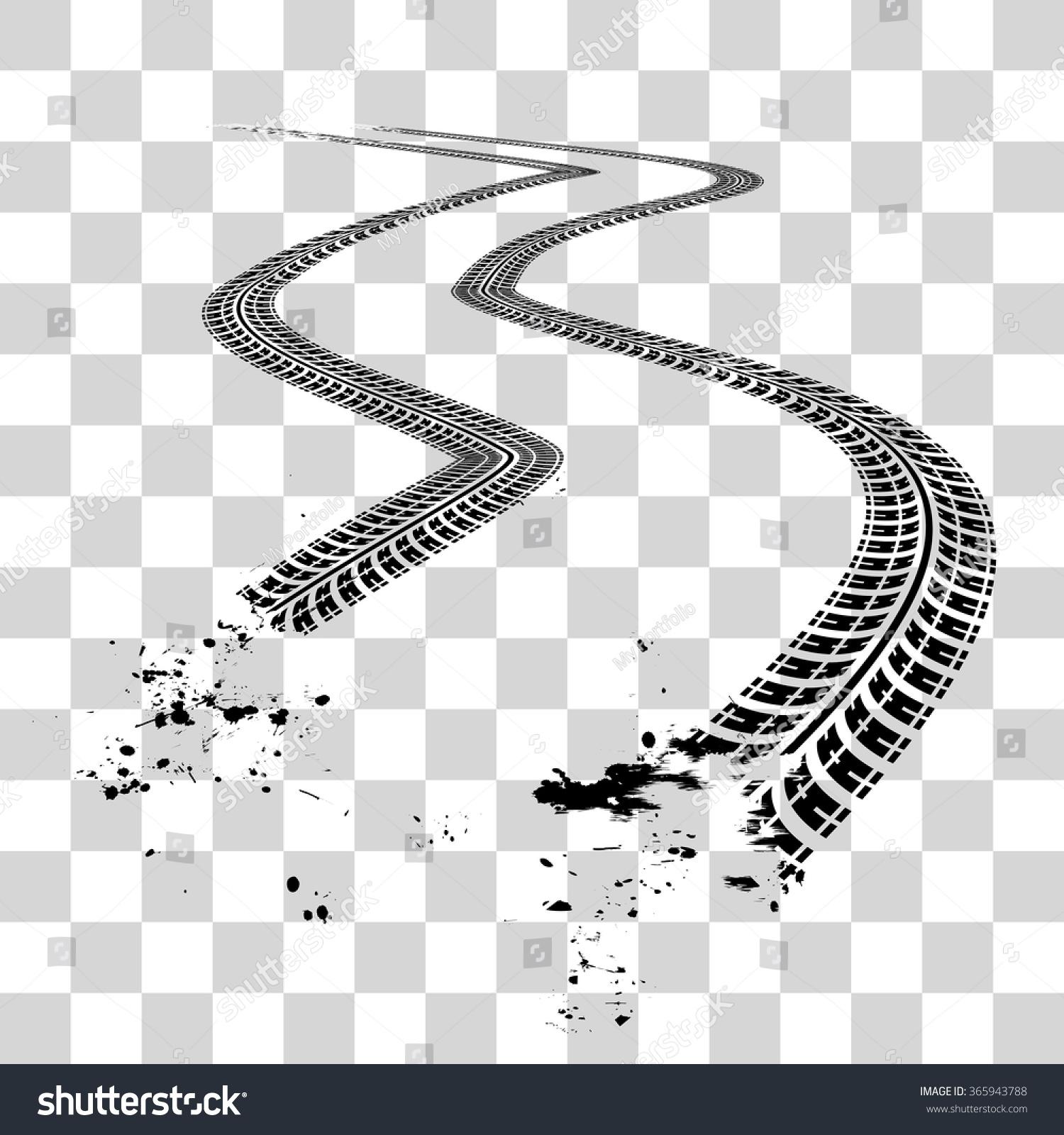 vector clipart tire tracks - photo #35