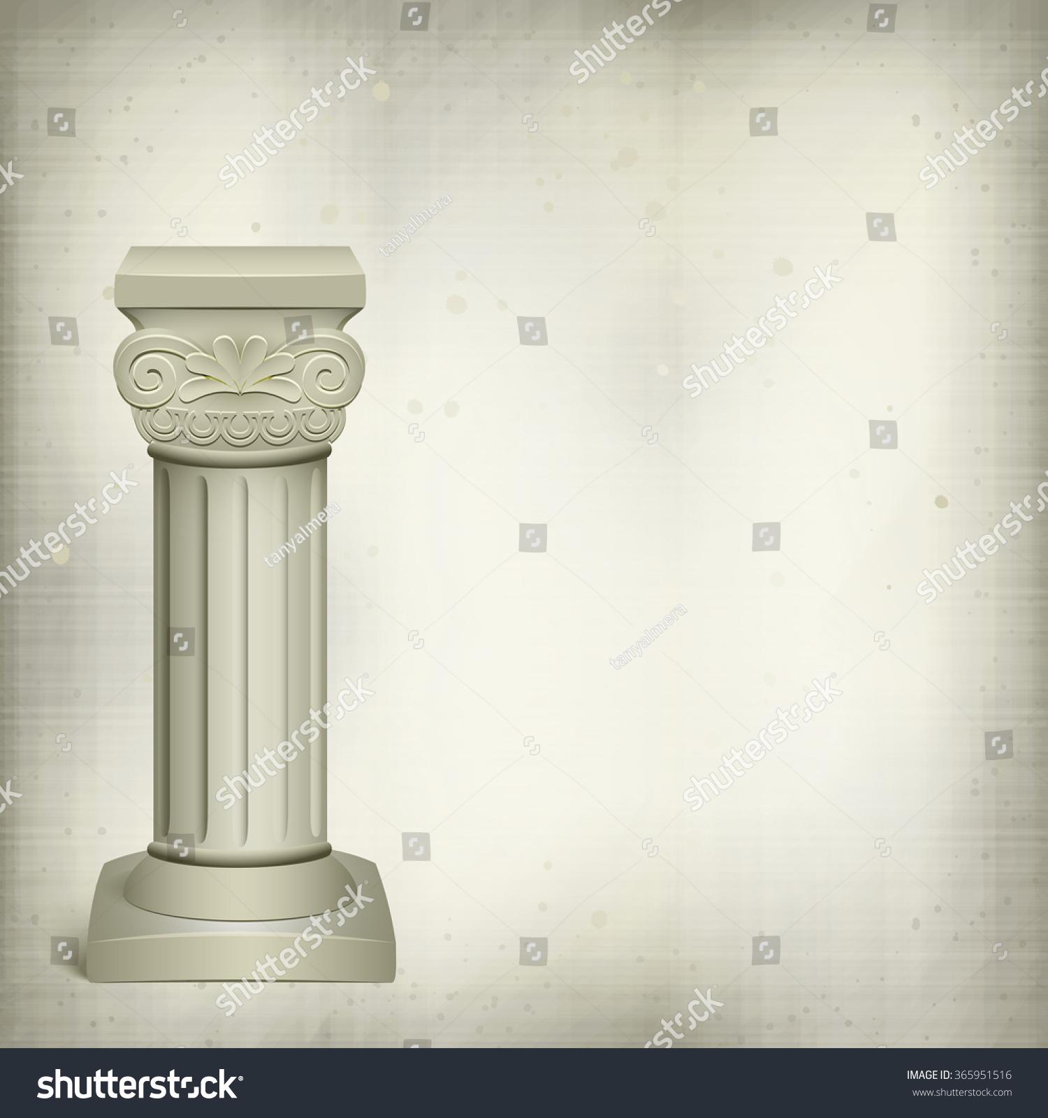 Classic Columns Paper Home Design