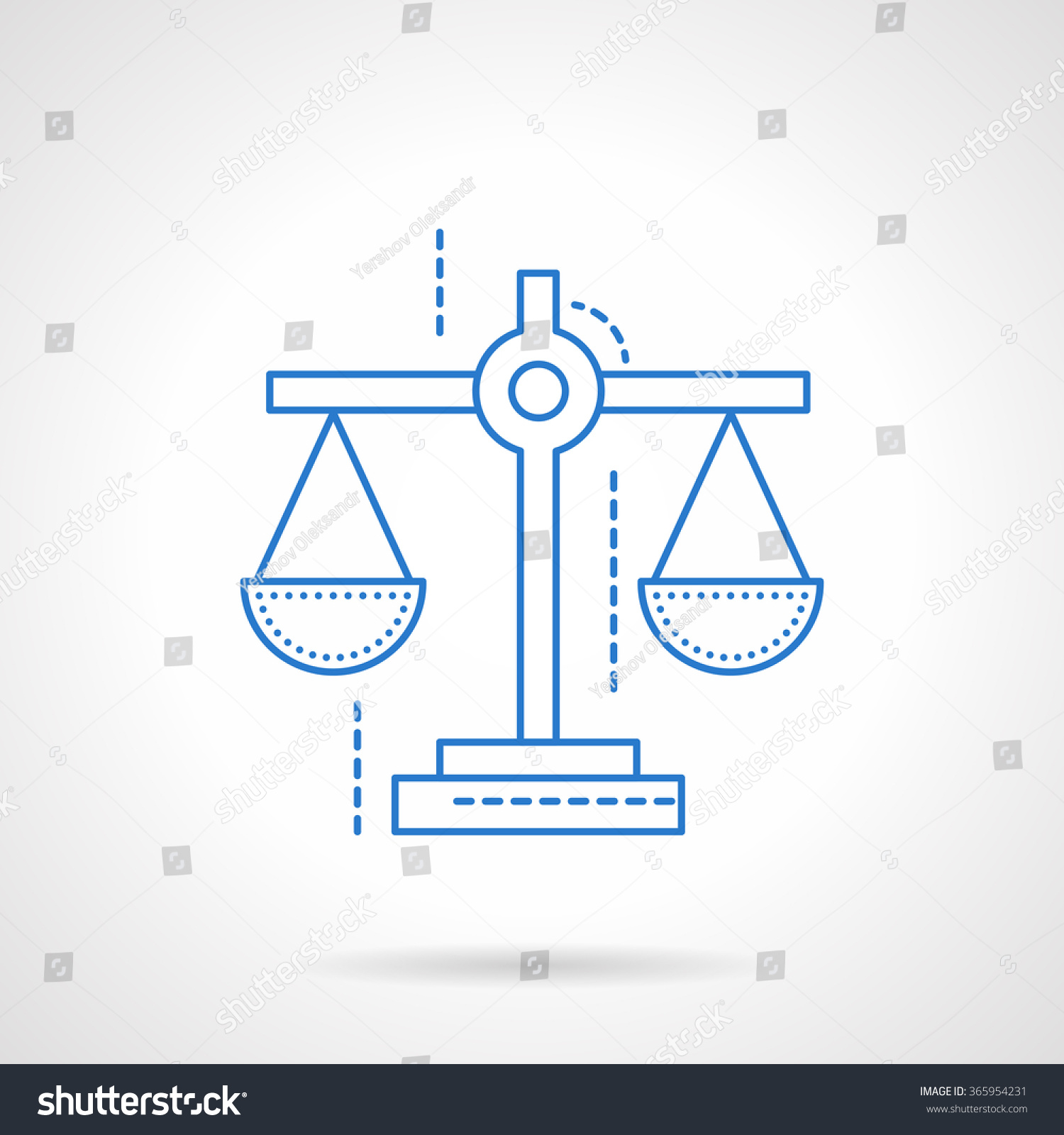 Scales Symbol Justice Business Evaluation Financial Stock Vector