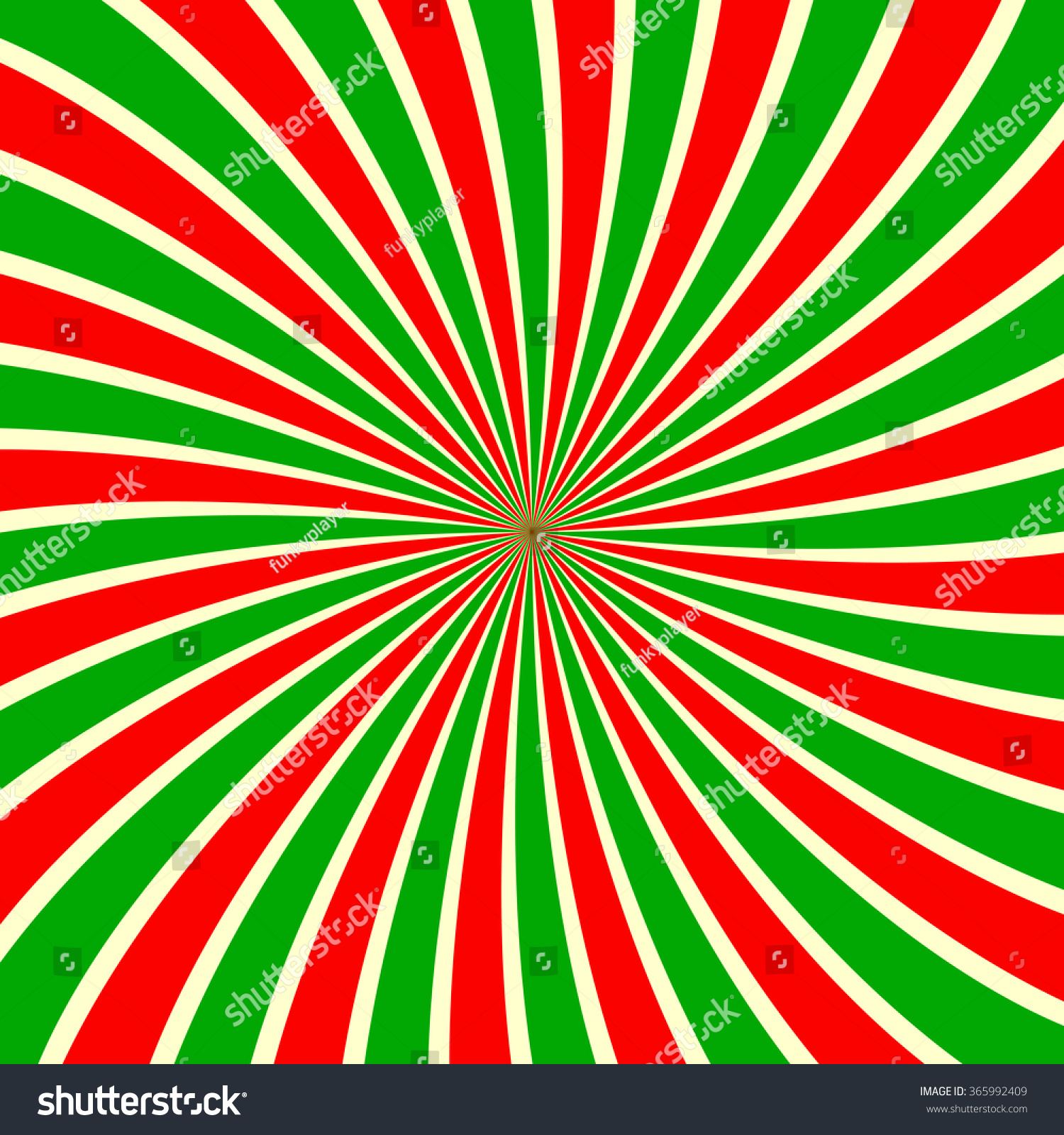 Red Green White Sunbeam Background Striped Stock Vector