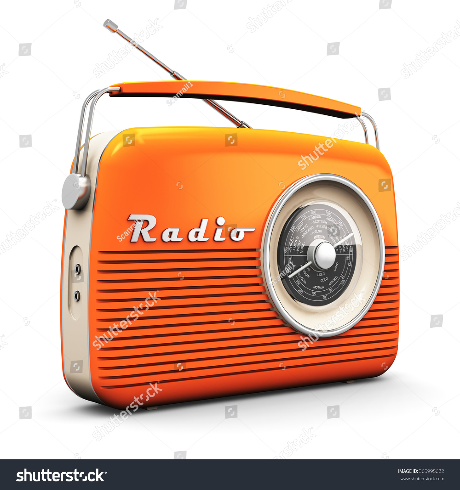 old orange vintage retro style radio stock illustration 365995622 shutterstock. Black Bedroom Furniture Sets. Home Design Ideas