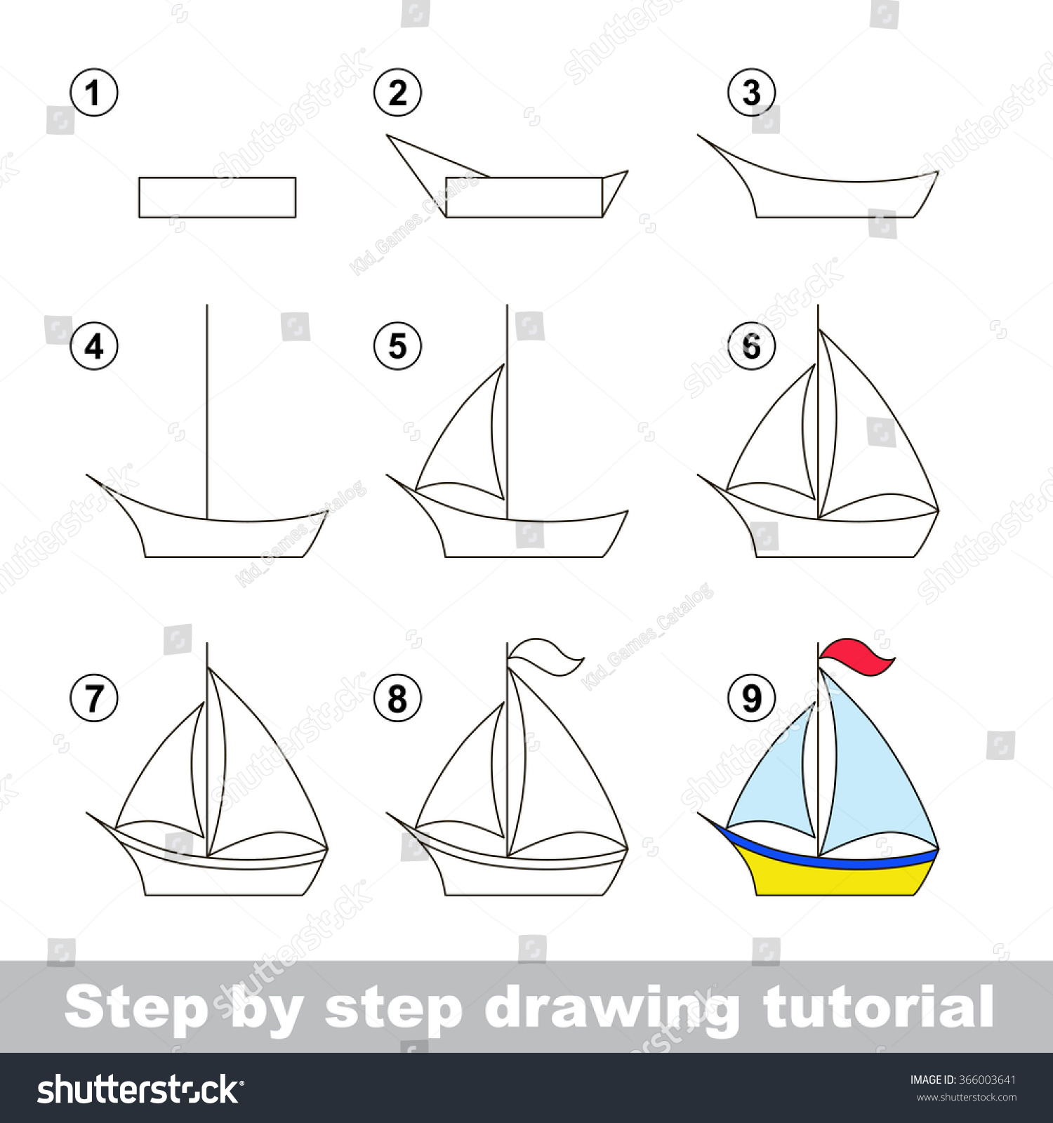drawing tutorial how to draw a boat