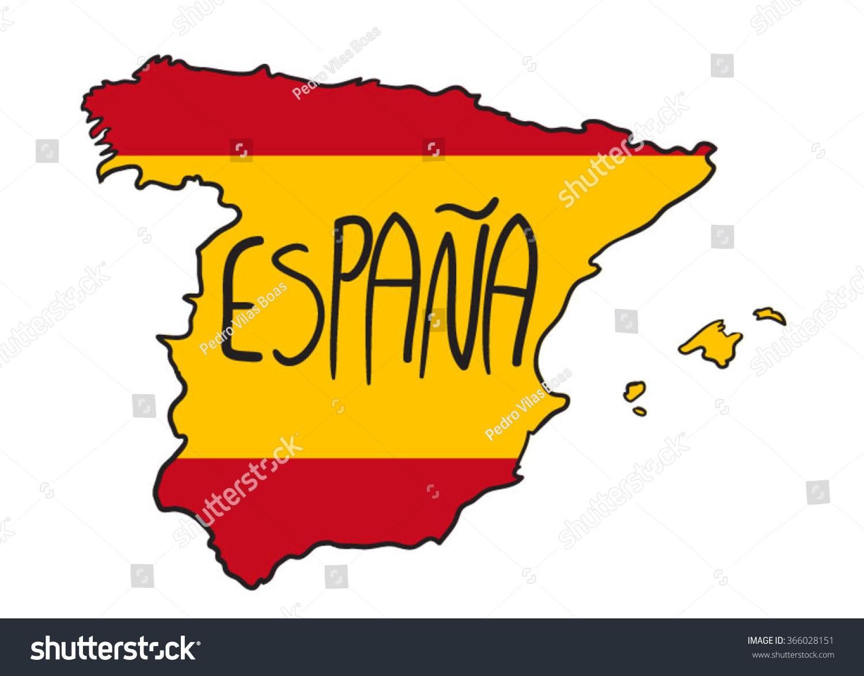 Cartoon Spain Map Stock Vector ...