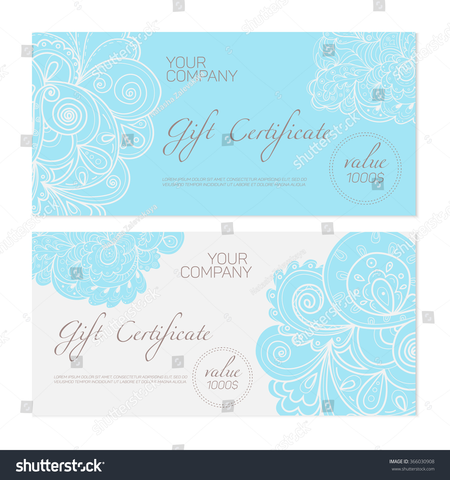 Elegant gift certificate template abstract ornamental stock vector elegant gift certificate template abstract ornamental background ideal for beauty and fashion companies pronofoot35fo Images