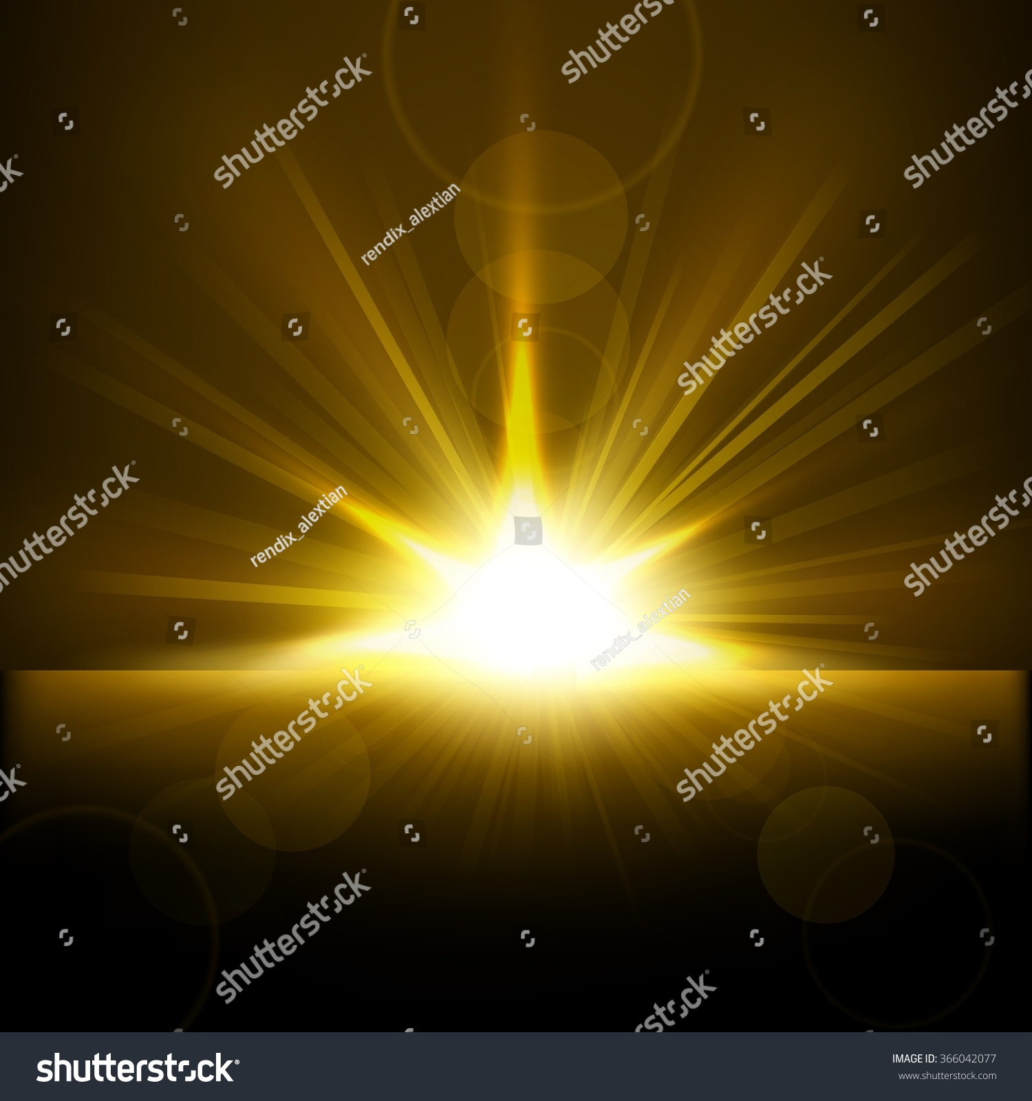 gold rays rising horizon stock illustration 366042077 shutterstock