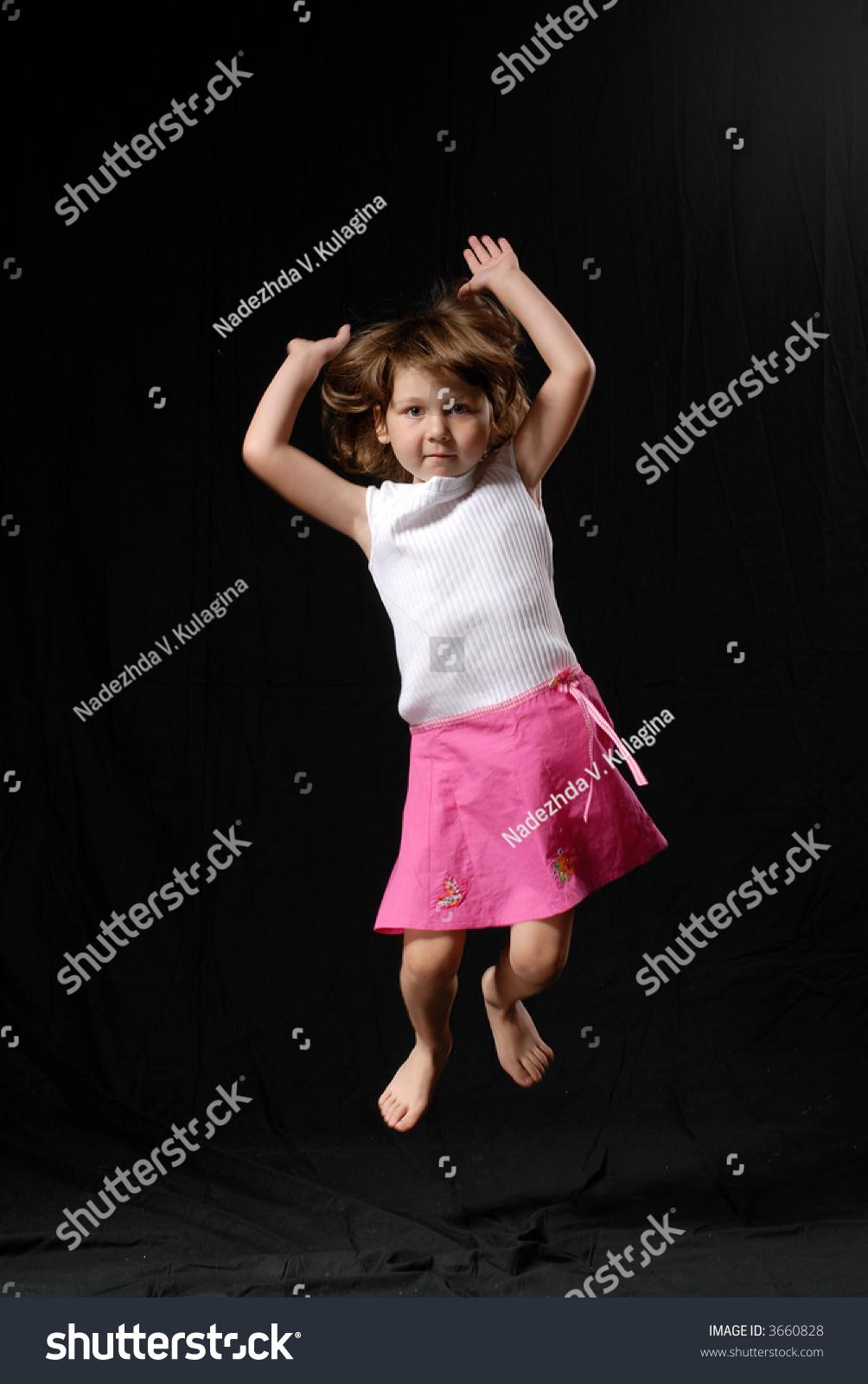 Little Girl Pink Skirt White Shirt Stock Photo 3660828 - Shutterstock-1496
