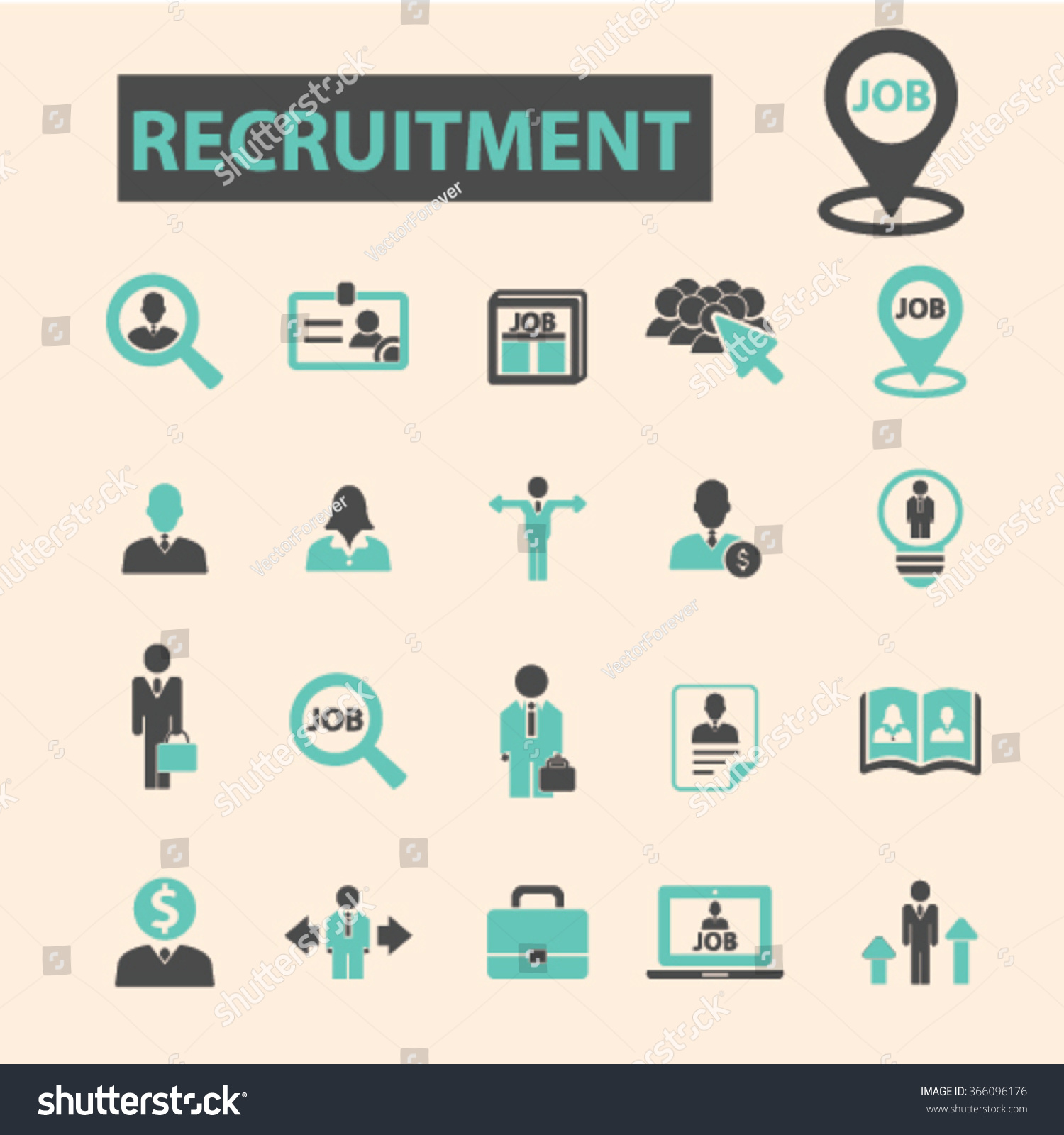 recruitment headhunter job icons signs vector stock vector recruitment headhunter job icons signs vector concept set for infographics mobile