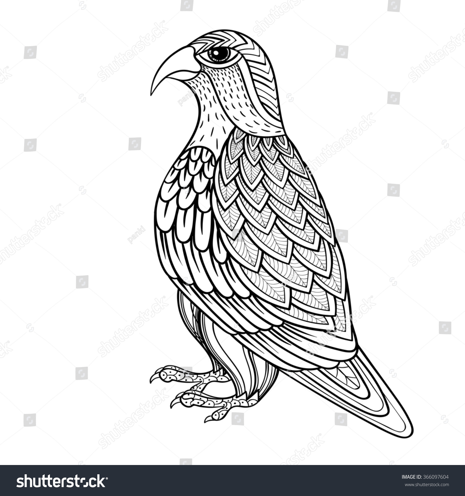 Birds Prey Coloring Pages Adults Coloring Coloring Pages