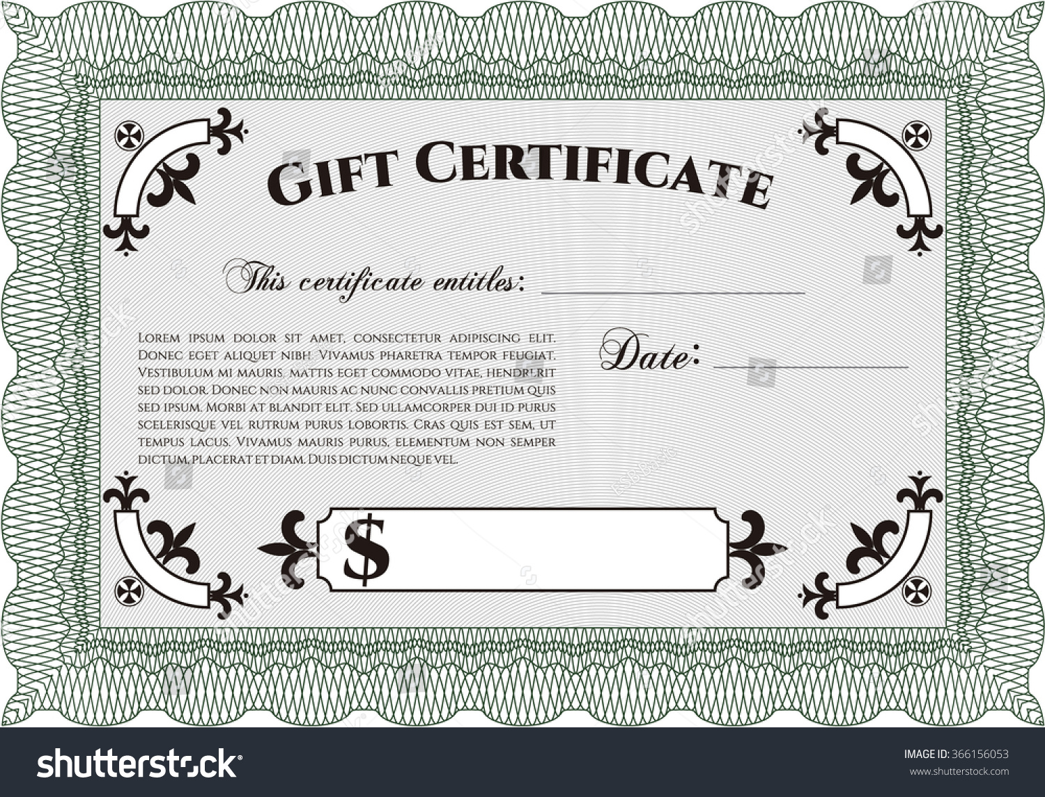 Retro gift certificate template detailedsuperior design stock retro gift certificate template detailedperior design with background yadclub Image collections