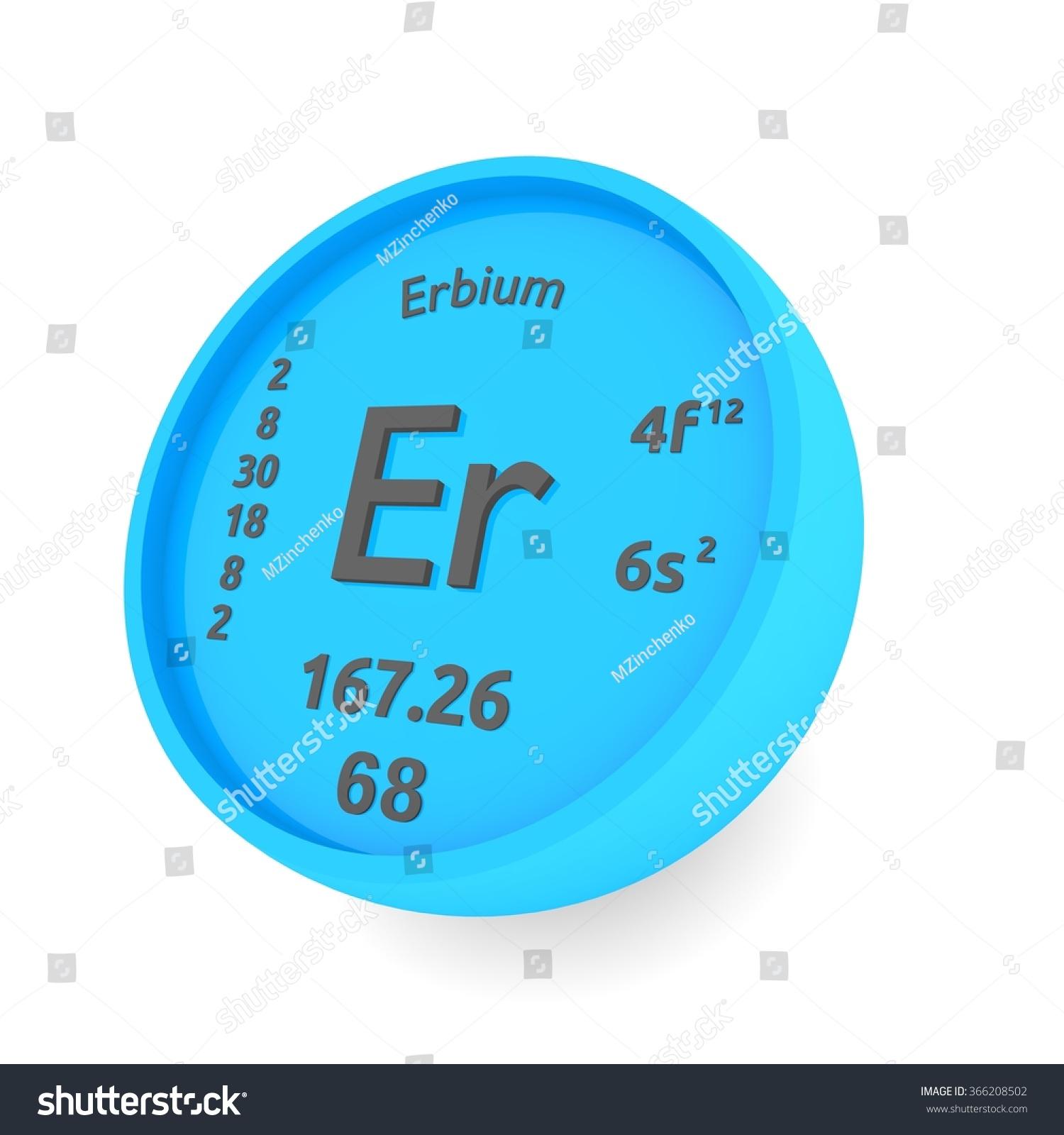 Erbium Chemical Element Sign Stock Illustration 366208502 Shutterstock