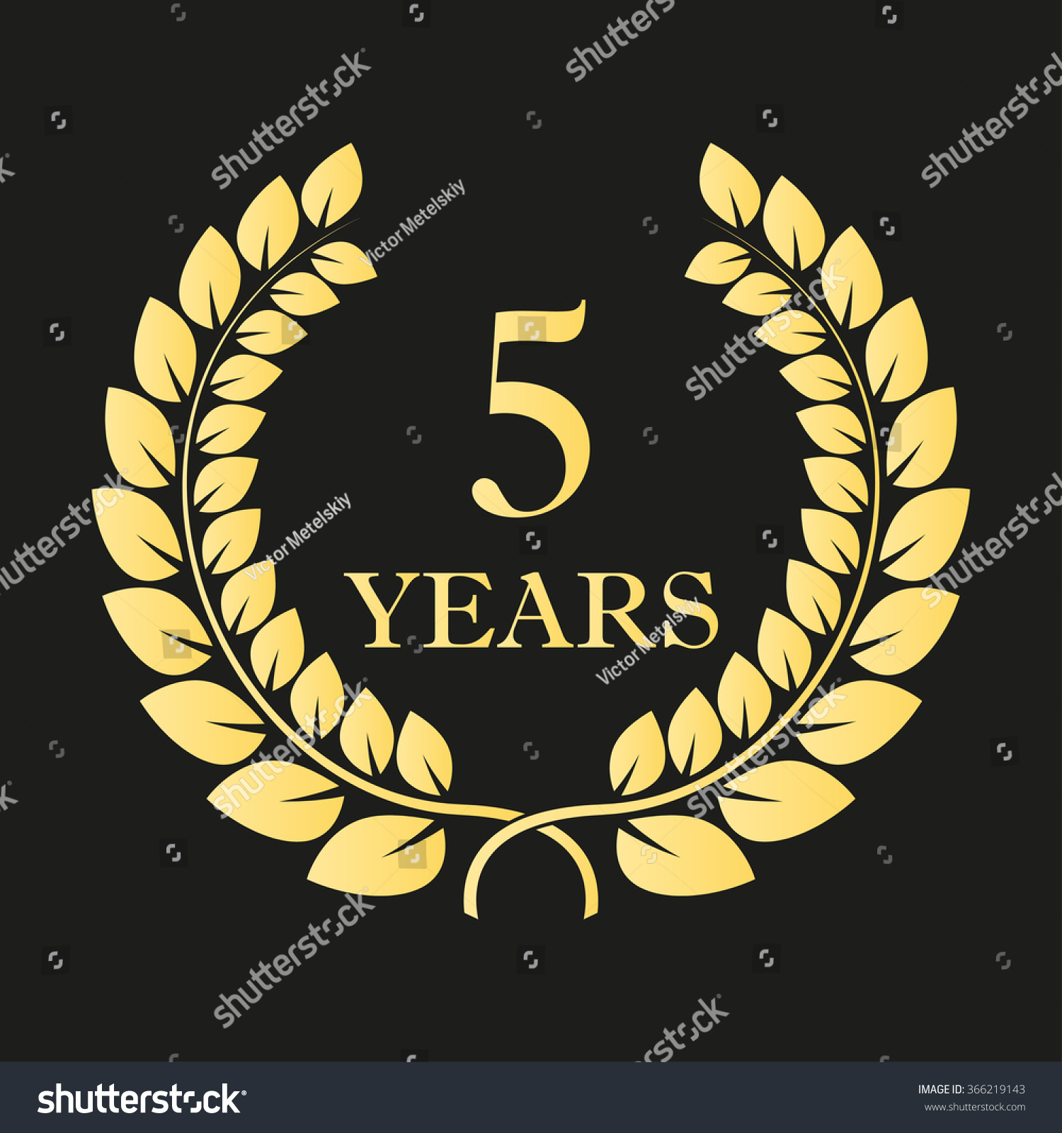 5 years anniversary laurel wreath icon stock illustration 5 years anniversary laurel wreath icon or sign template for celebration and congratulation design biocorpaavc Gallery