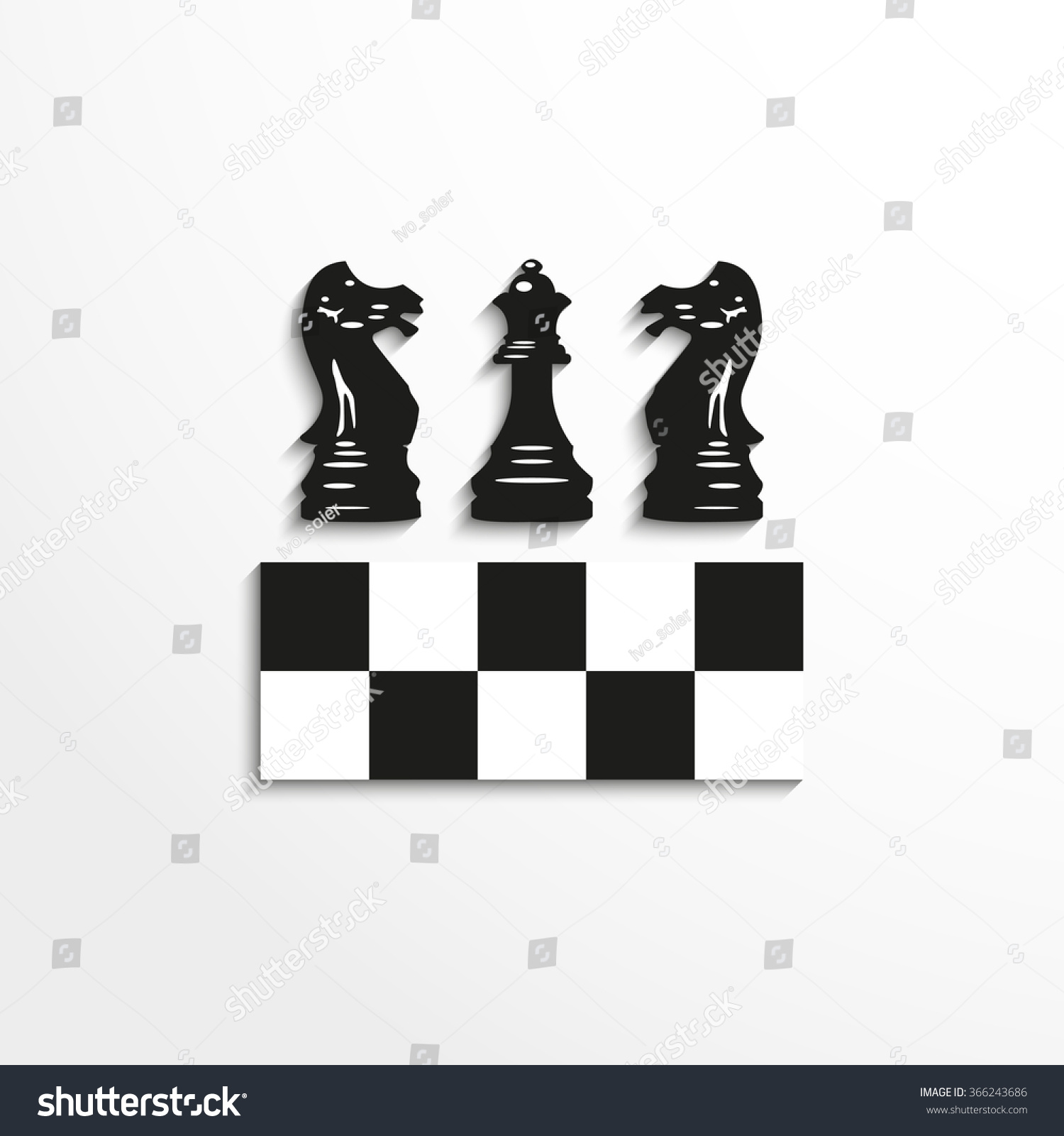 Sports Symbols Chess Vector Icon Stock Vector Royalty Free