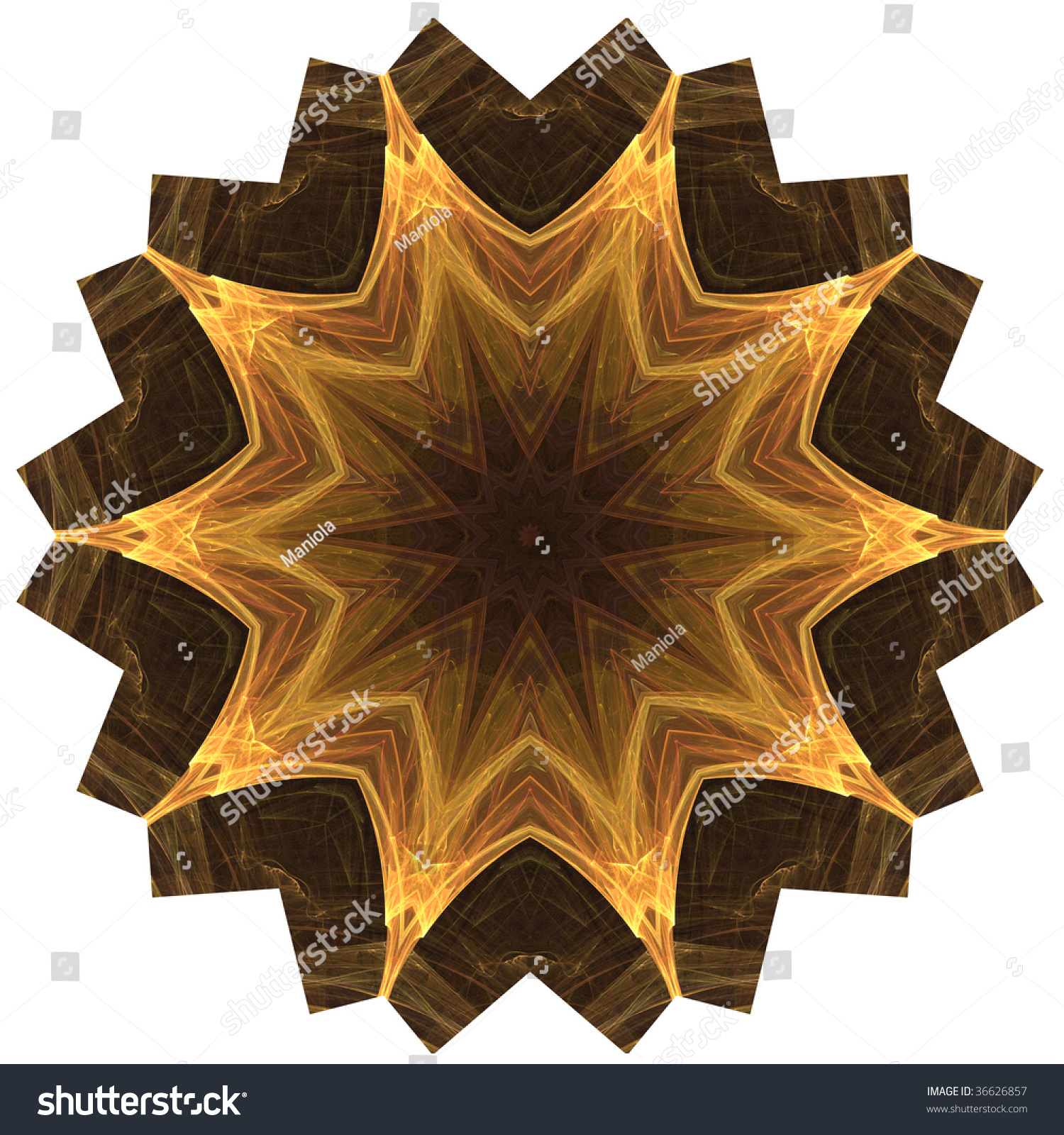 High Resolution Mandala Hindu Buddhist Symbol Stock Illustration