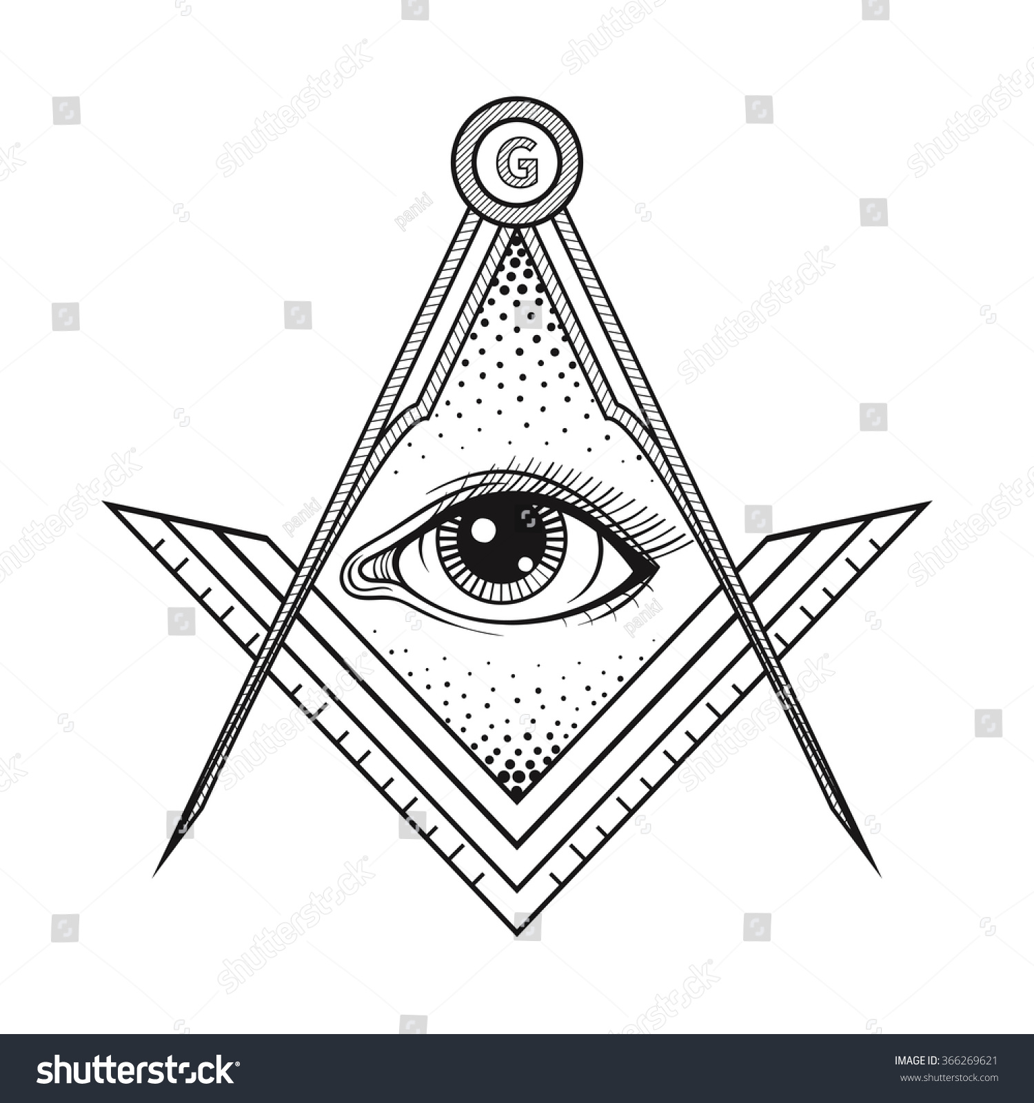 Masonic square compass symbol all seeing stock illustration masonic square and compass symbol with all seeing eye freemason sacred society emblem for tattoo biocorpaavc Images