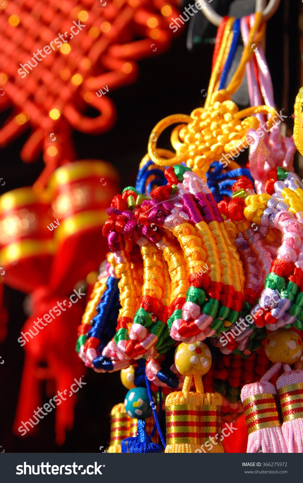 Chinese lunar new year decorations hanging stock photo - Lunar new year decorations ...