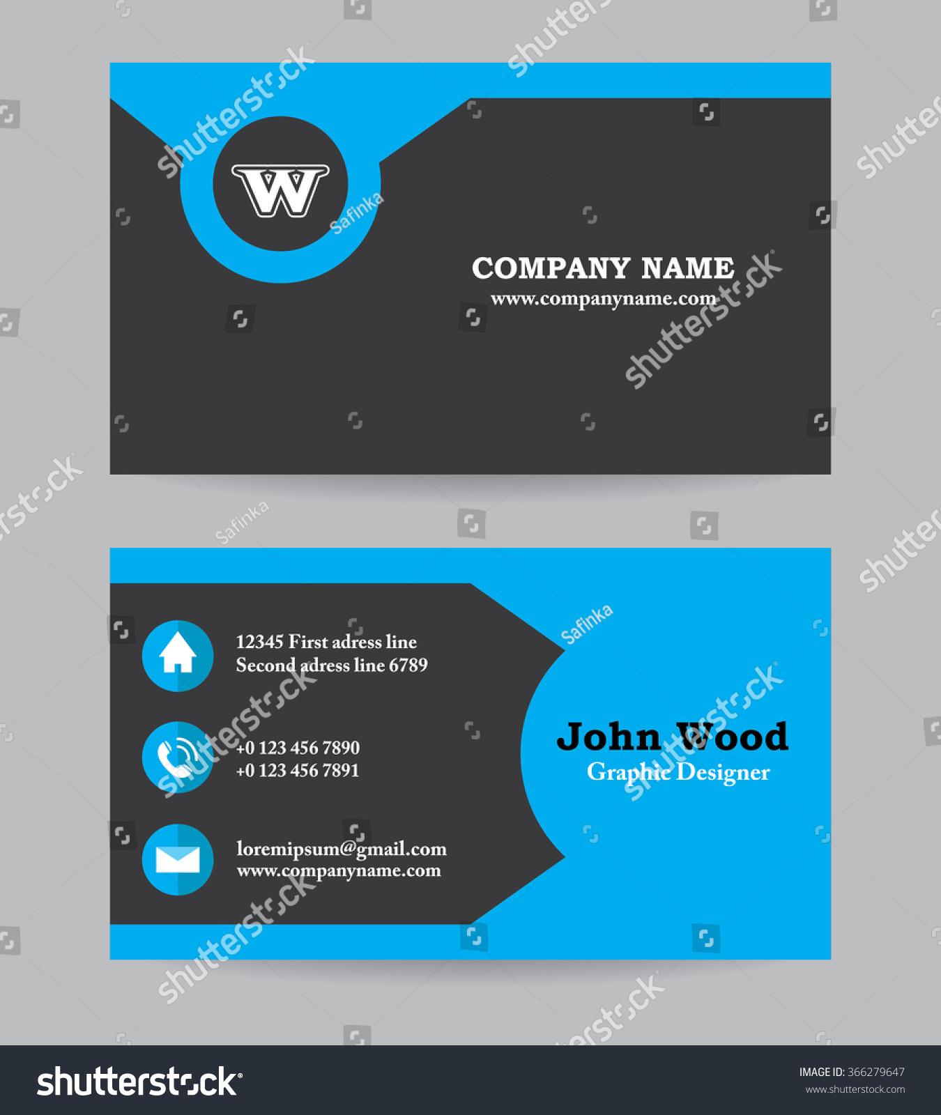 modern business card template flat design stock vector royalty free