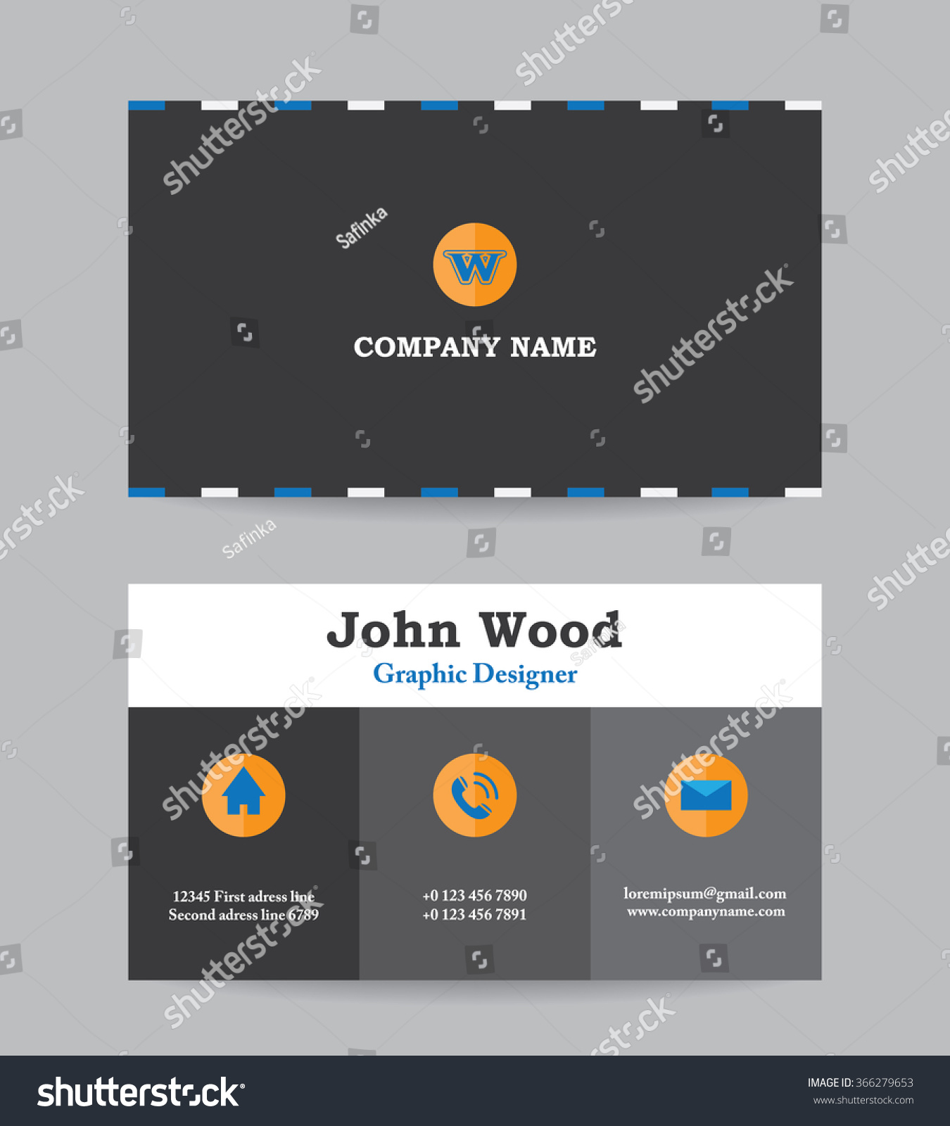 business card business card template business のベクター画像素材