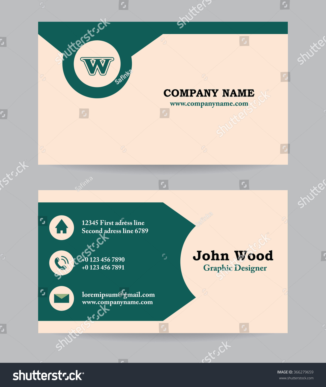 personal information card template