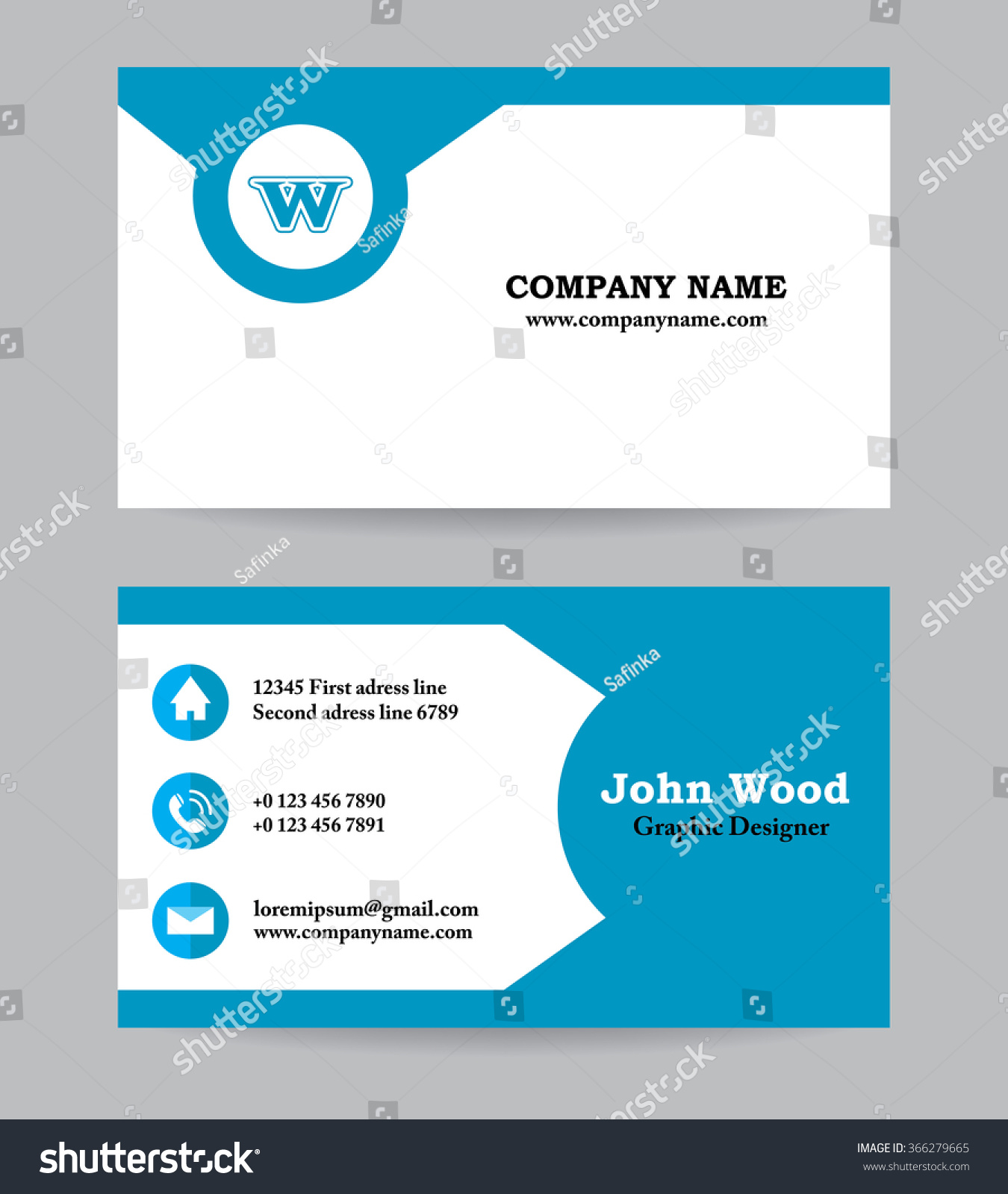 business card business card template business stock vector