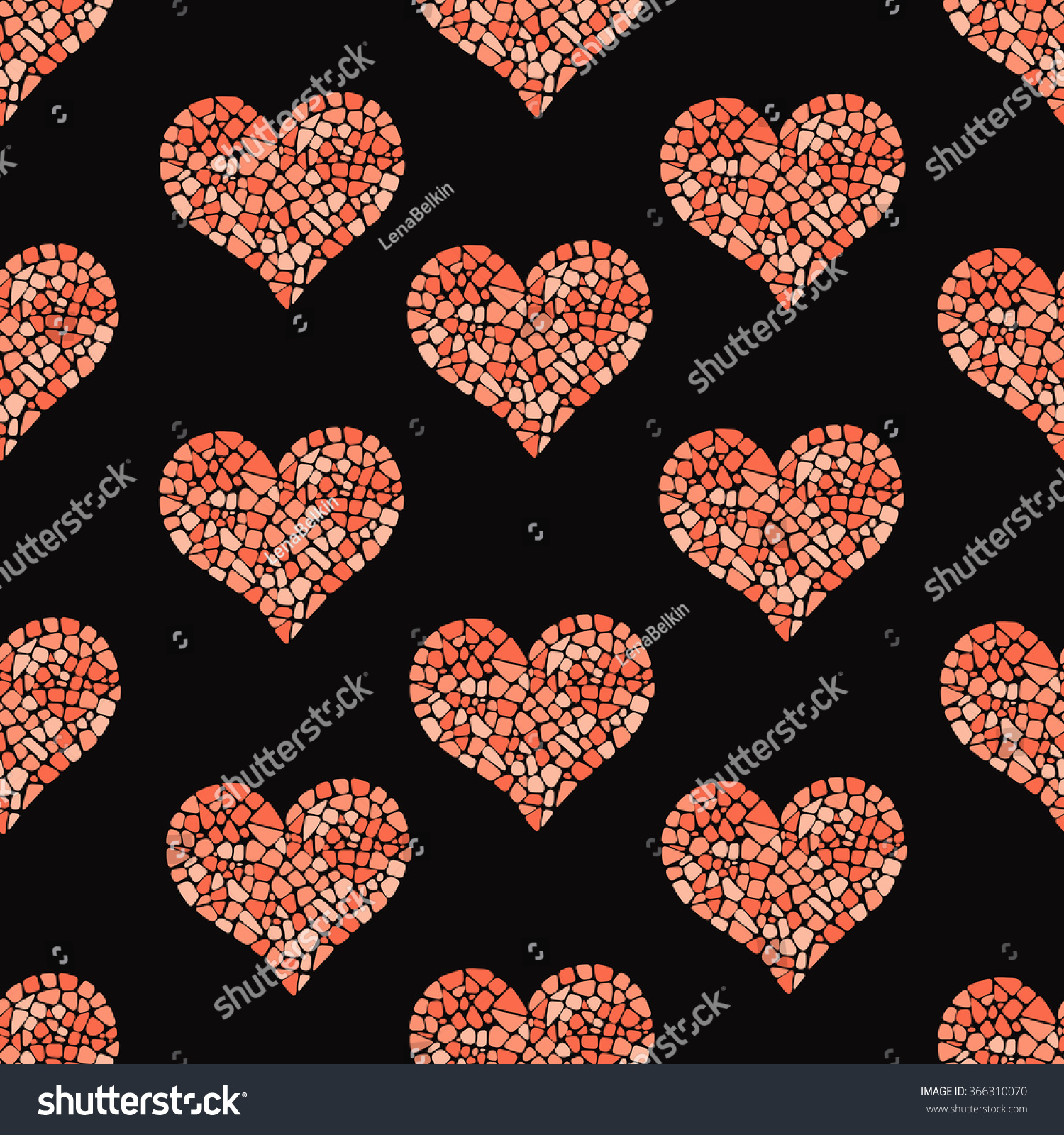 Romantic vector seamless background greeting card wallpaper vector art -  Vectors Illustrations Footage Music Mosaic Heart Seamless Pattern Romantic Background Design For Greeting Cards Wrapping Paper