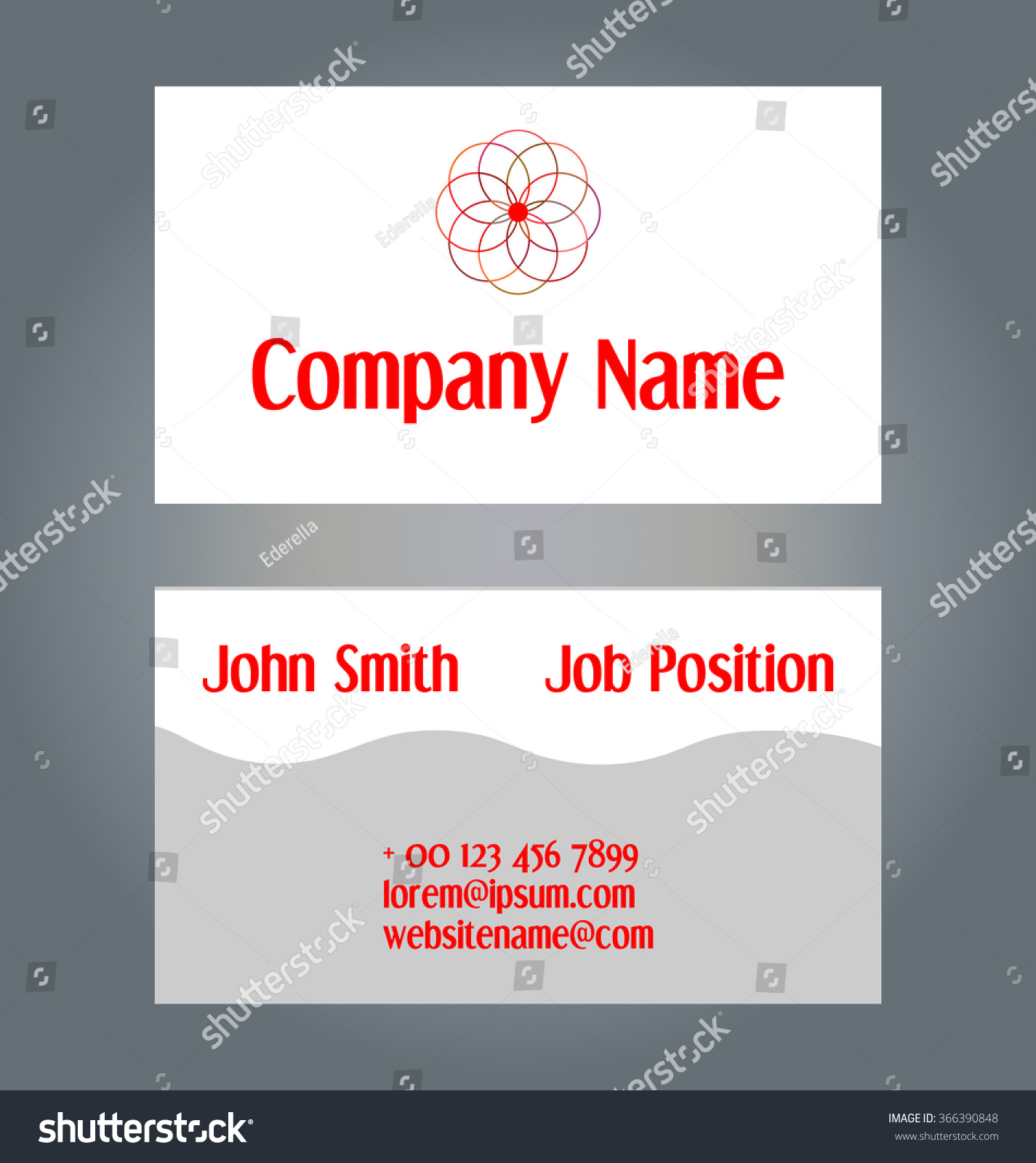 Two Sided Business Card Template Geometric Design Stock Vector (2018 ...