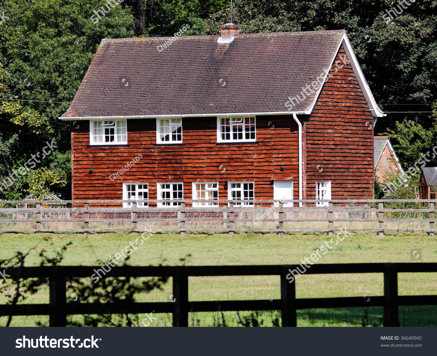 Traditional english timber clad rural house stock photo 36640945 shutterstock - The shutter clad house ...