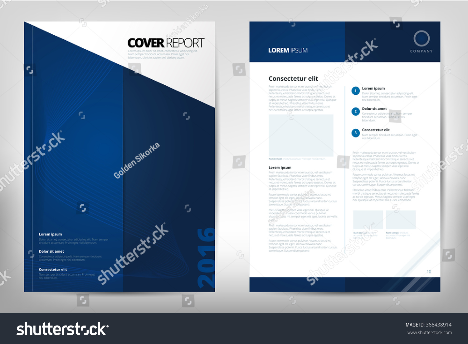Cover Design Annual Report Catalog Magazine Vector 366438914 – Business Report Cover Page