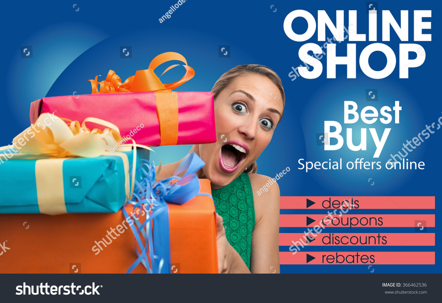 Generic brochure design template shop online stock photo for Blueprint online