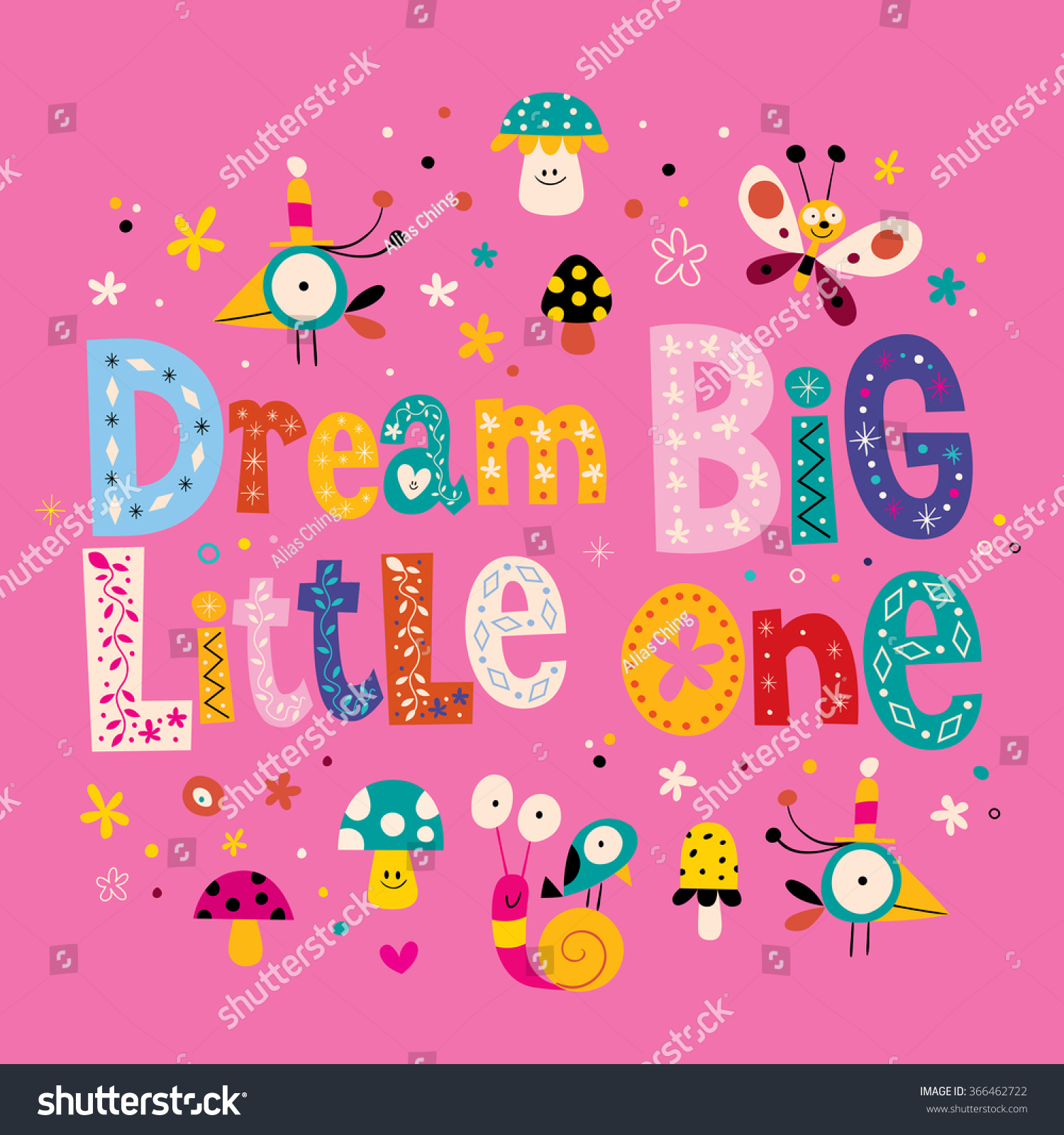 Dream big little one quote baby room wall nursery room wall decoration nursery wall art