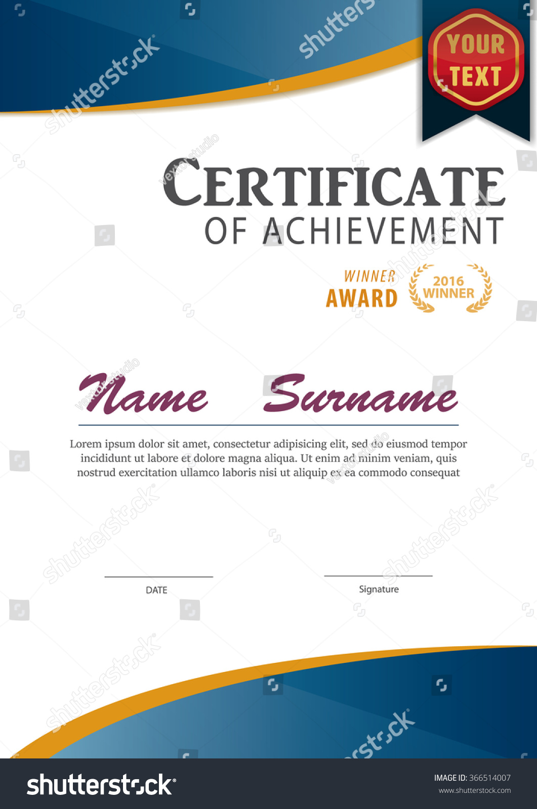 Royalty free certificate templatediploma layouta4 366514007 certificate templatediploma layouta4 size vector 366514007 yelopaper Images