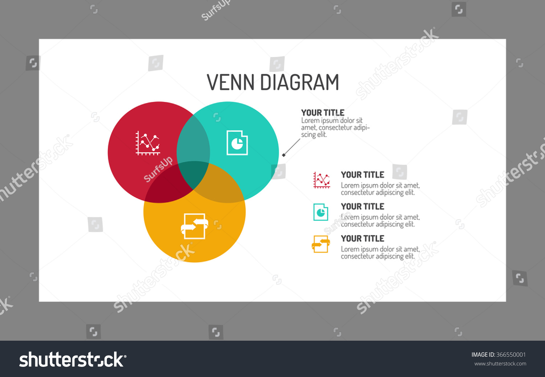 Three section venn diagram stock vector 366550001 shutterstock three section venn diagram pooptronica
