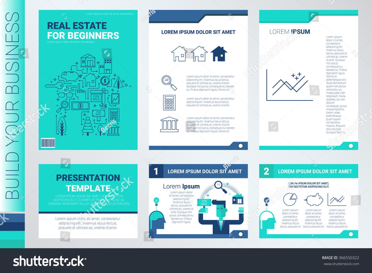 real estate book cover presentation template stock vector royalty