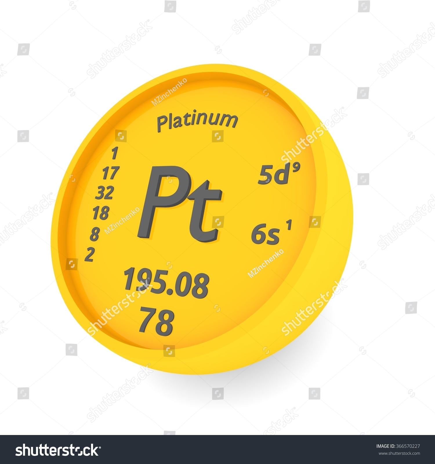 modern periodic large walltat platinum of touch sales table element