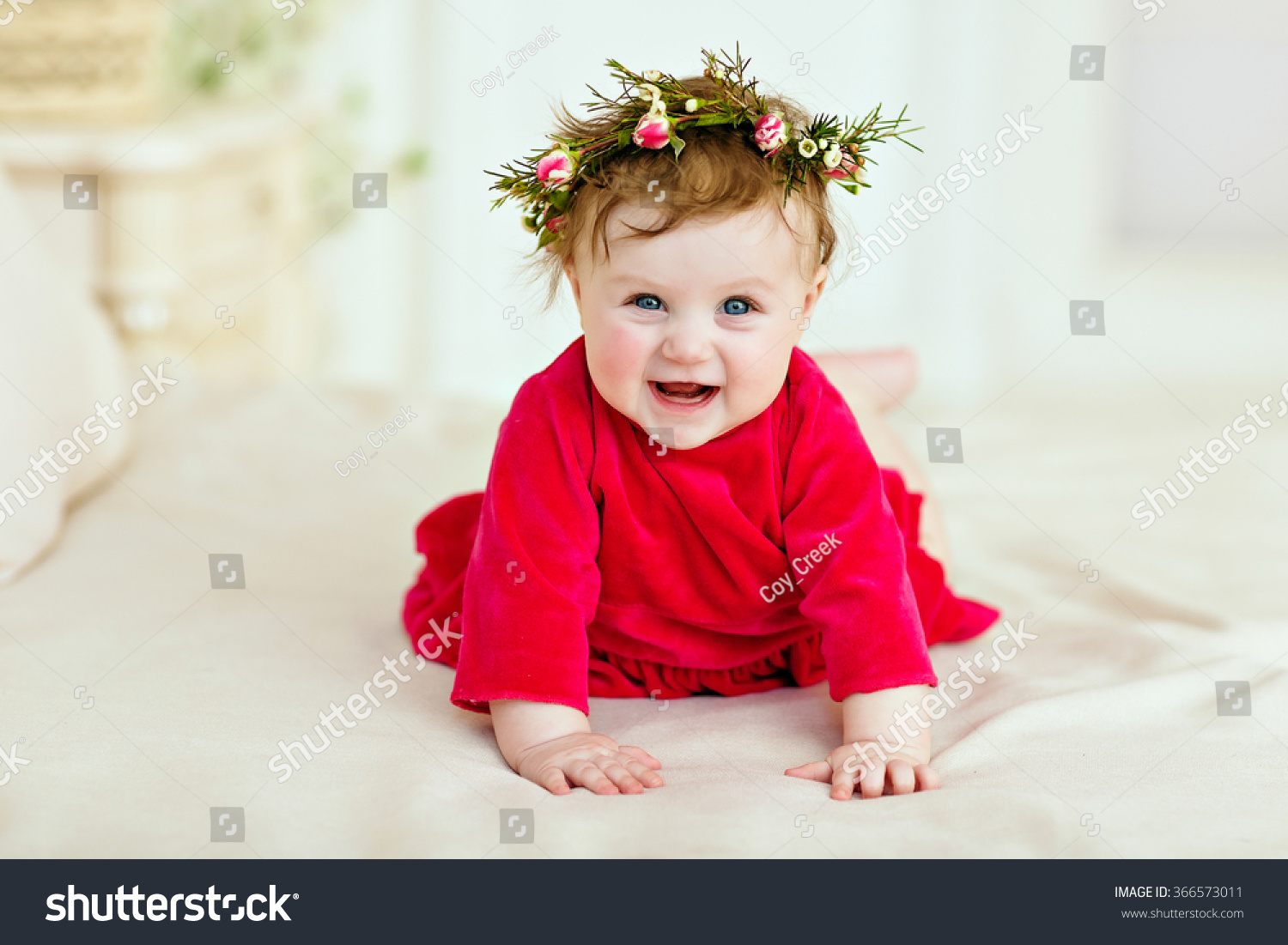 8db252277183 Portrait Smiling Little Girl Little Girl Stock Photo (Edit Now ...