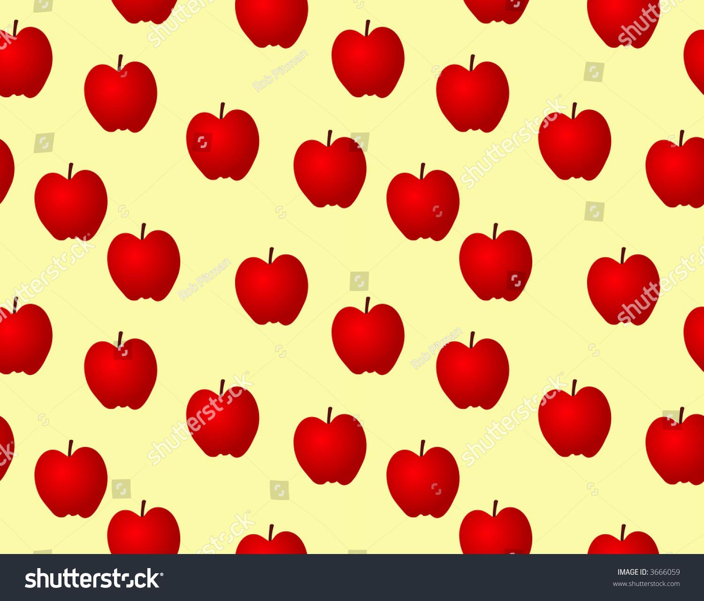 retro red apples wallpaper illustration stock illustration 3666059