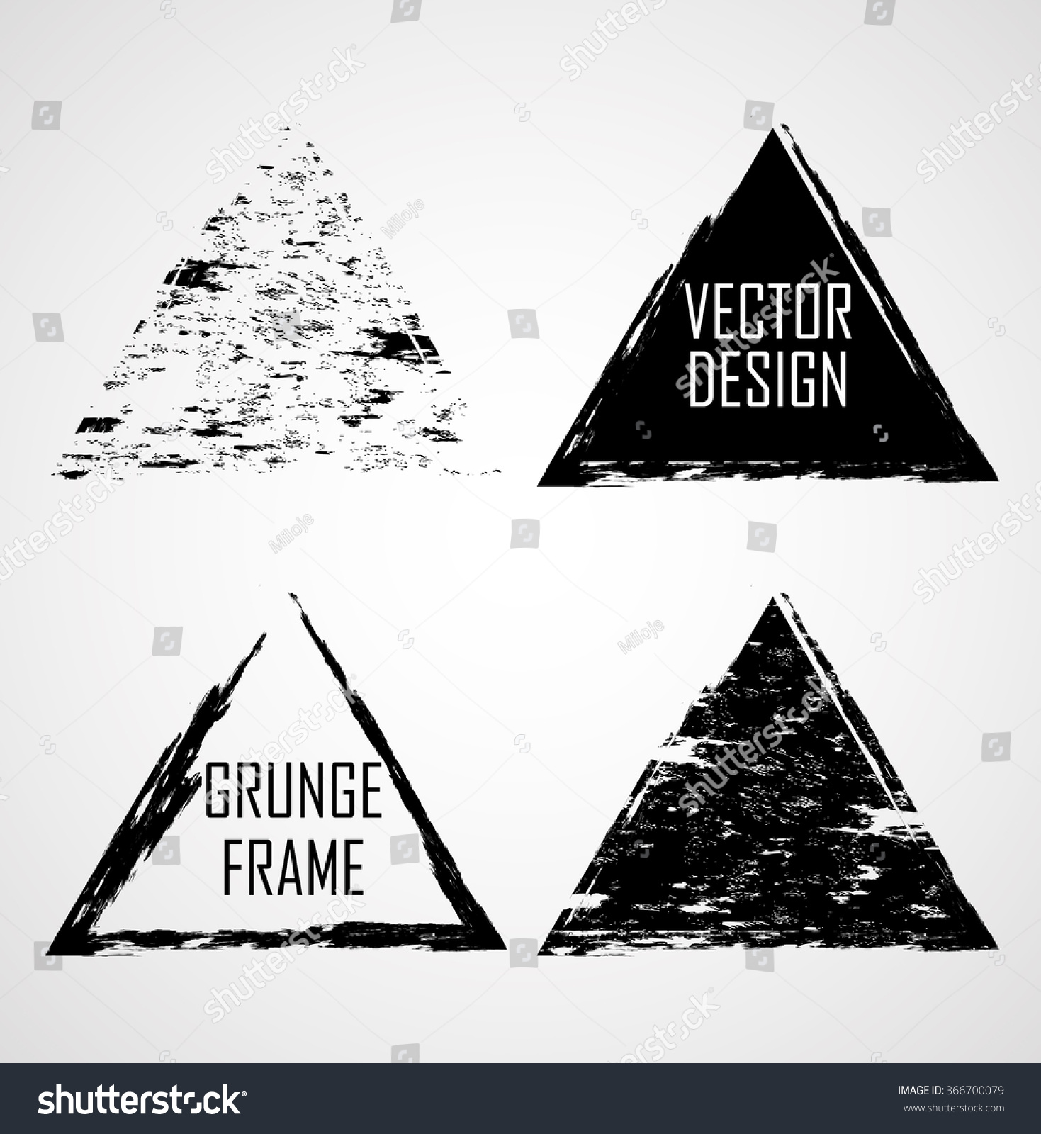 Grunge Rubber Texture Stamp Collection Triangle Stock Vector ...