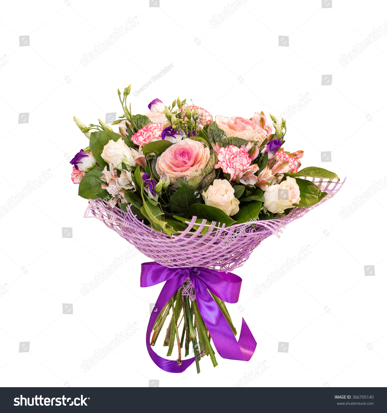 Beautiful Flower Bouquet Isolated On White Stock Photo (Royalty Free ...