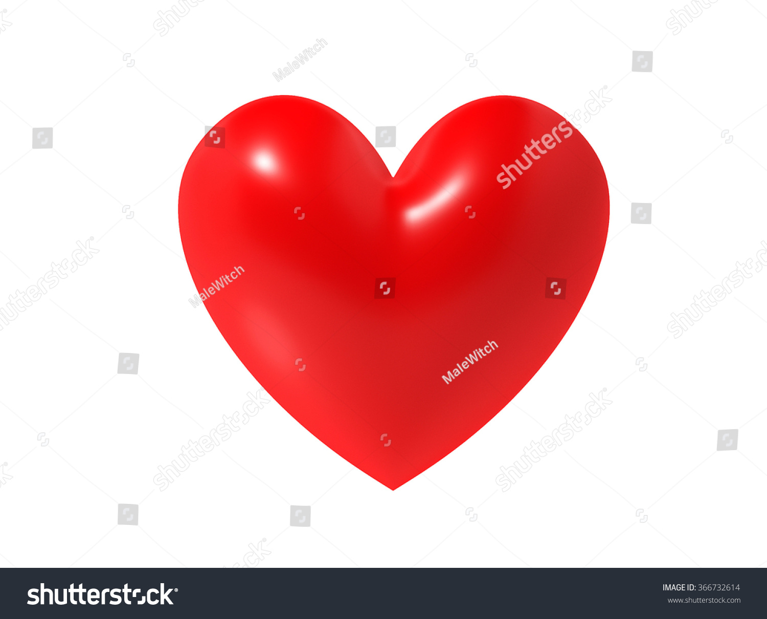 3 D Heart Symbol On White Background Stock Illustration 366732614