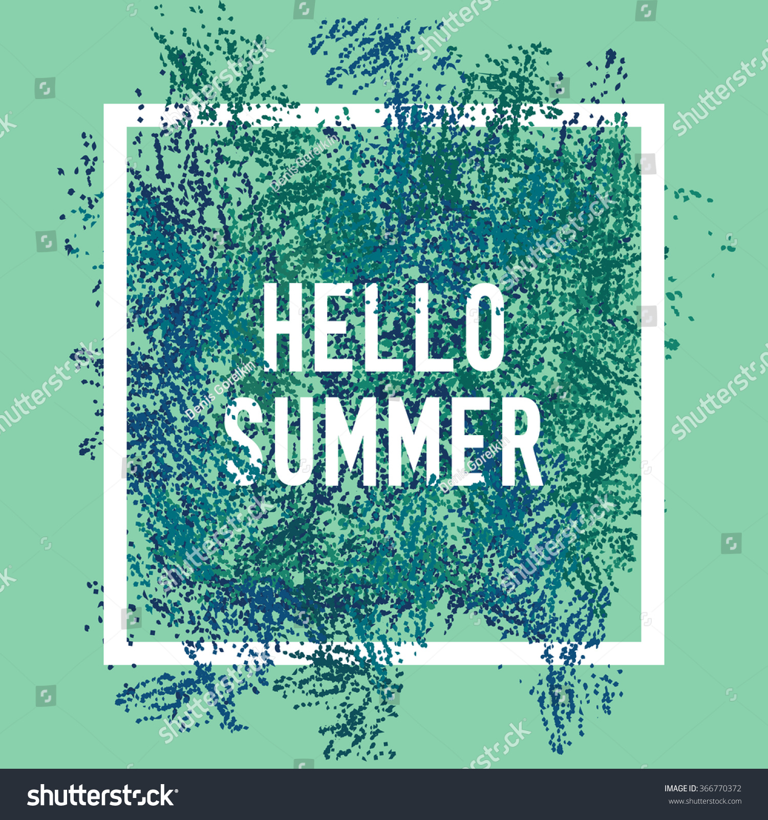 Attrayant Hello Summer Square Poster. Text Lettering Of An Inspirational Saying.  Quote Typographical Poster,