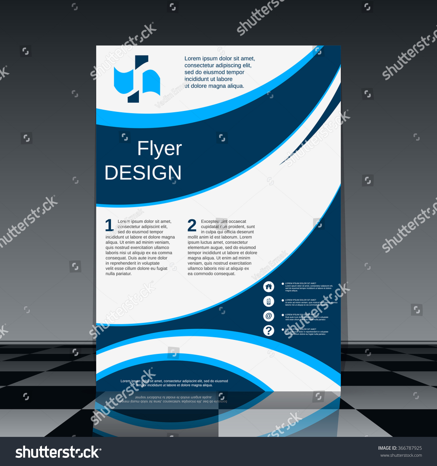 royalty professional flyer vector template 366787925 stock professional flyer vector template brochure mockup business report magazine cover placard corporate banner presentation poster design stock vector