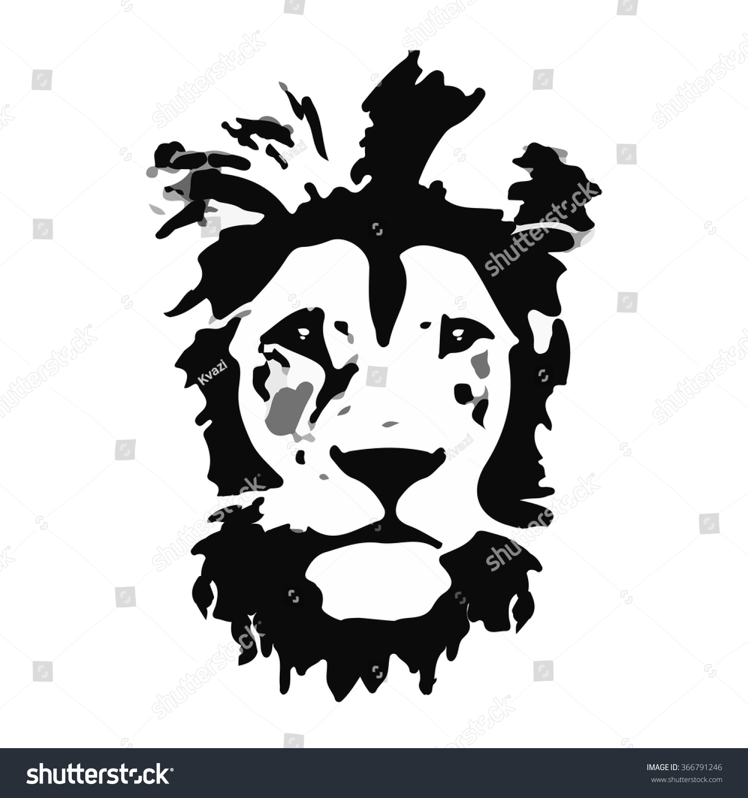 lion head vector illustration wild lion stock vector