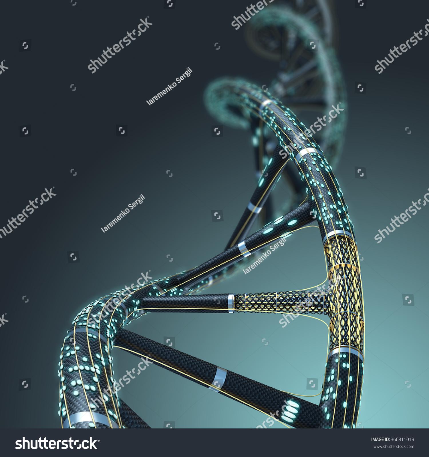 Dna Model Wallpaper: Artificial Dna Molecule Concept Artificial Intelligence