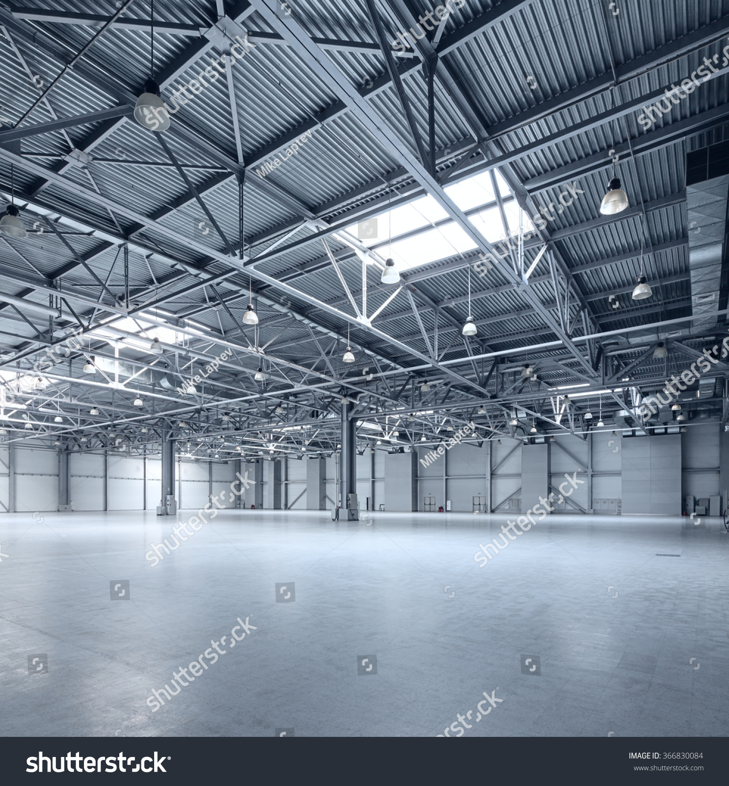 Interior Empty Warehouse Stock Photo 366830084