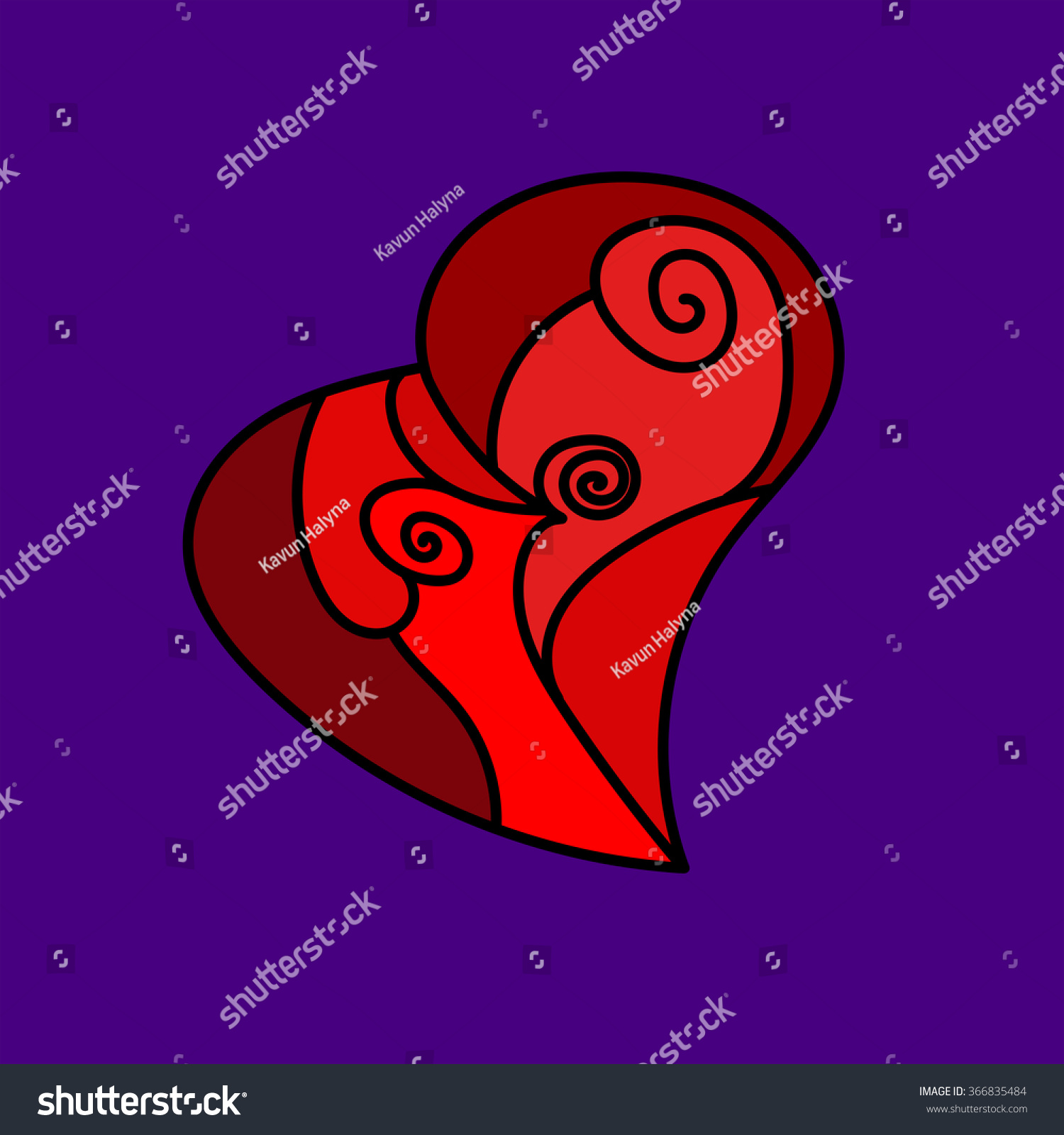 Vector Valentines Day Card Copy Space Stock Vector 366835484 ...