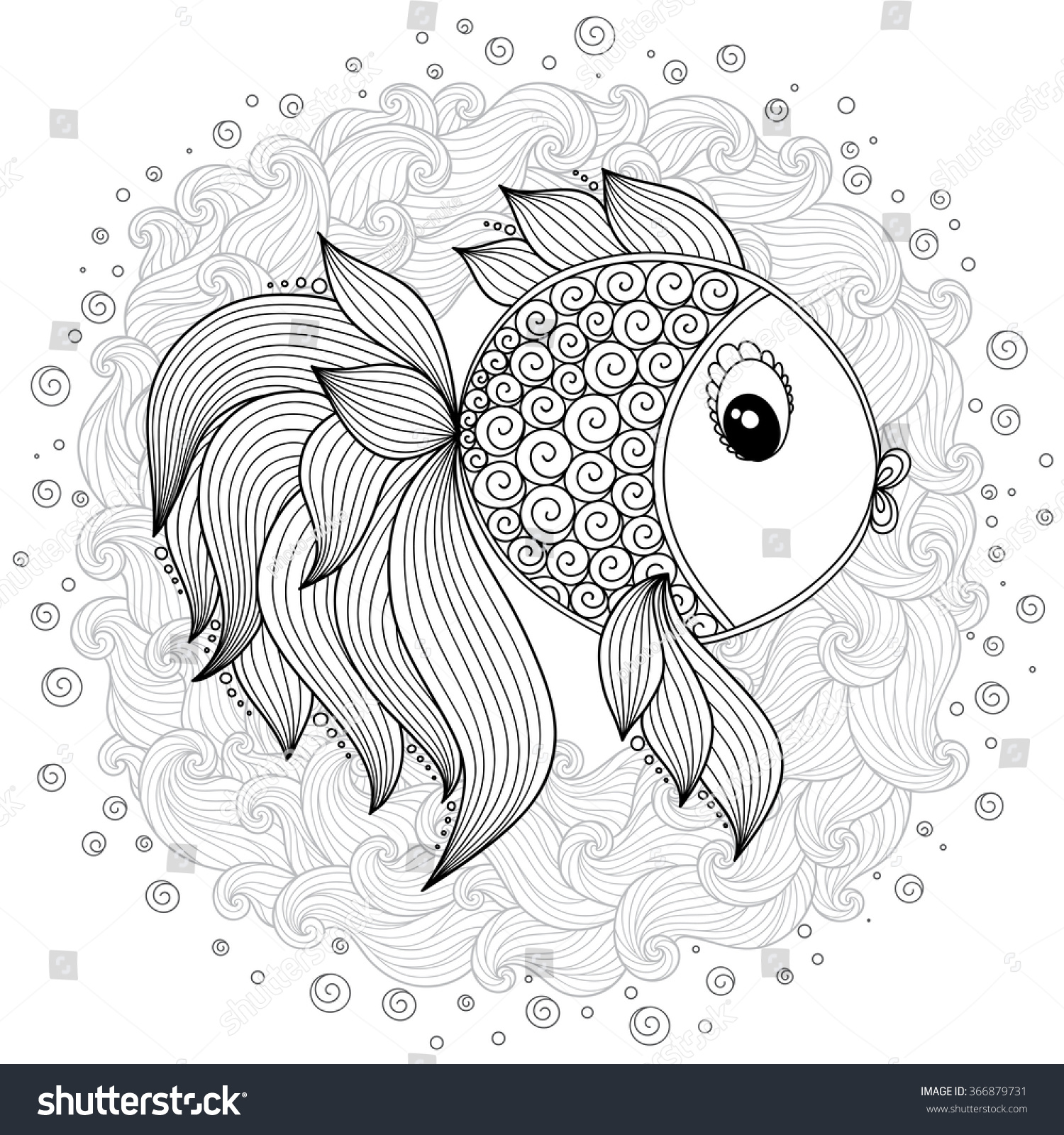 Coloring book pages of fish - Pattern For Coloring Book Coloring Book Pages For Kids And Adults Vector Cute Cartoon